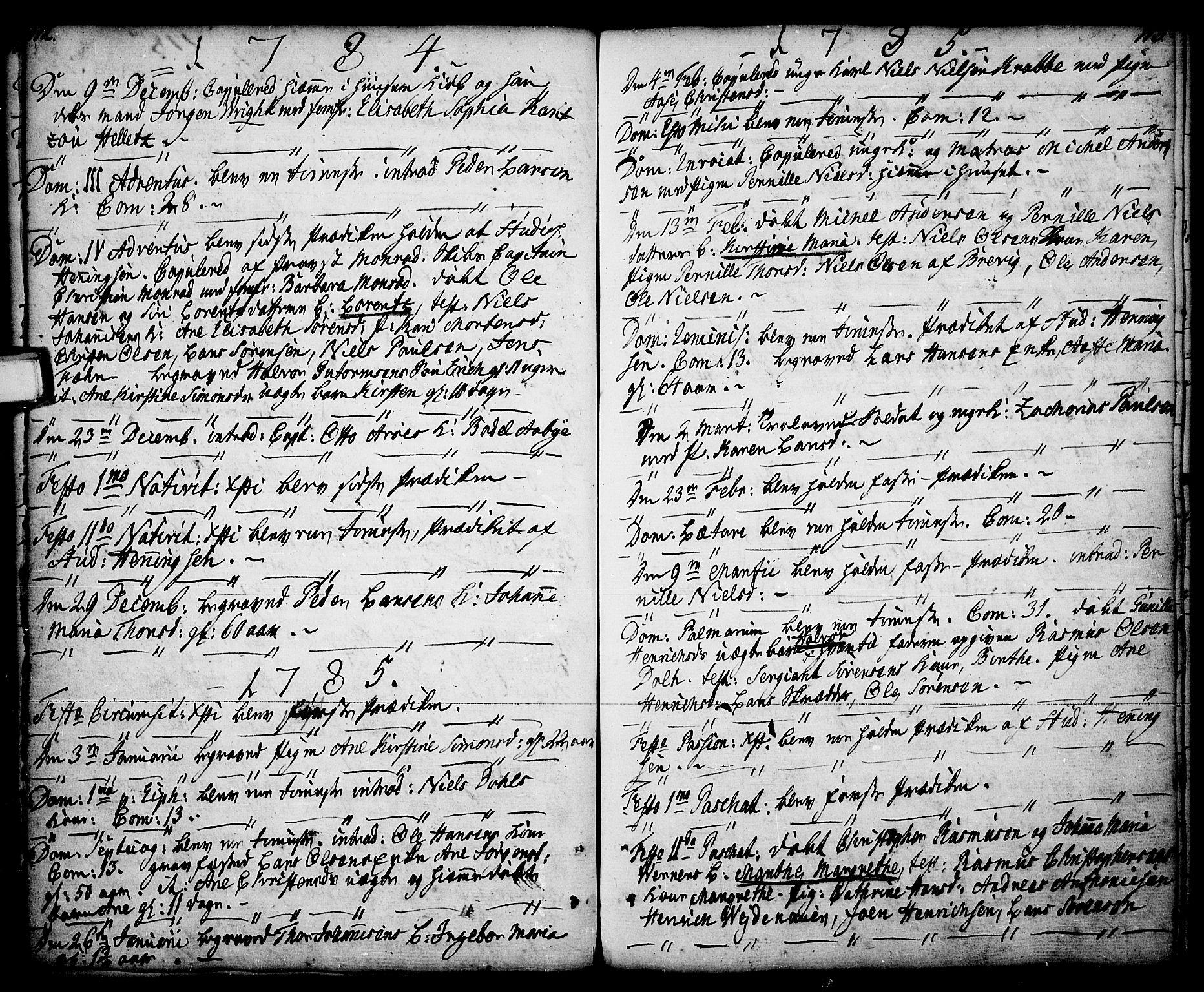 SAKO, Porsgrunn kirkebøker , F/Fa/L0001: Ministerialbok nr. 1, 1764-1814, s. 112-113
