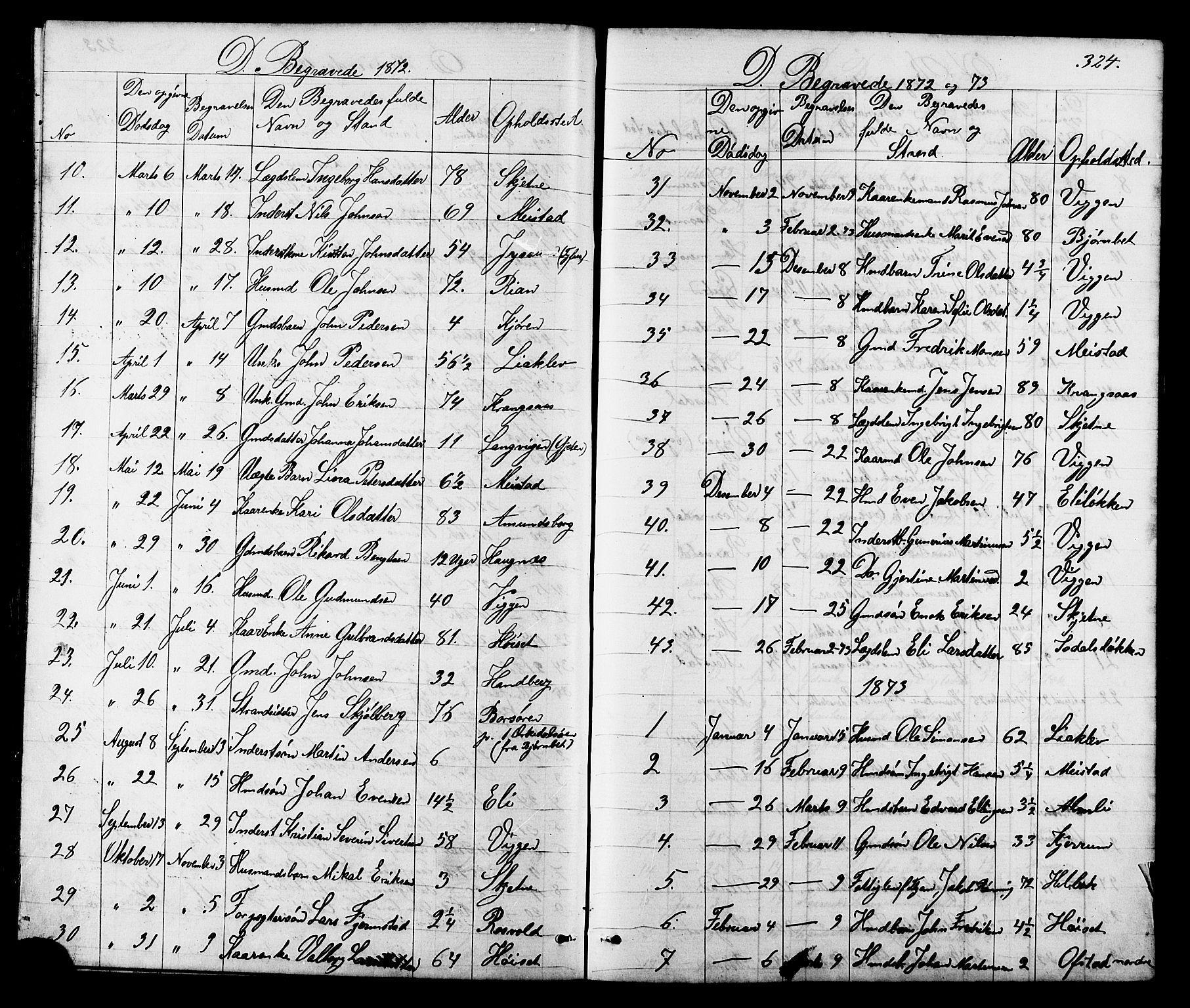 SAT, Ministerialprotokoller, klokkerbøker og fødselsregistre - Sør-Trøndelag, 665/L0777: Klokkerbok nr. 665C02, 1867-1915, s. 324