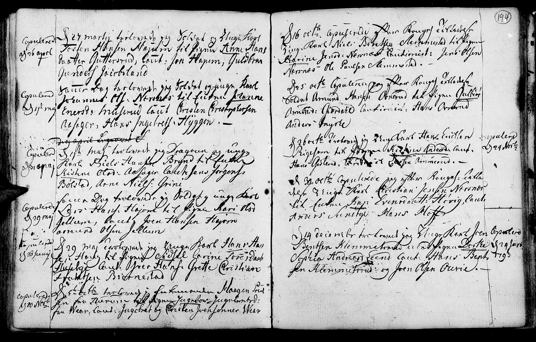 SAKO, Røyken kirkebøker, F/Fa/L0003: Ministerialbok nr. 3, 1782-1813, s. 194
