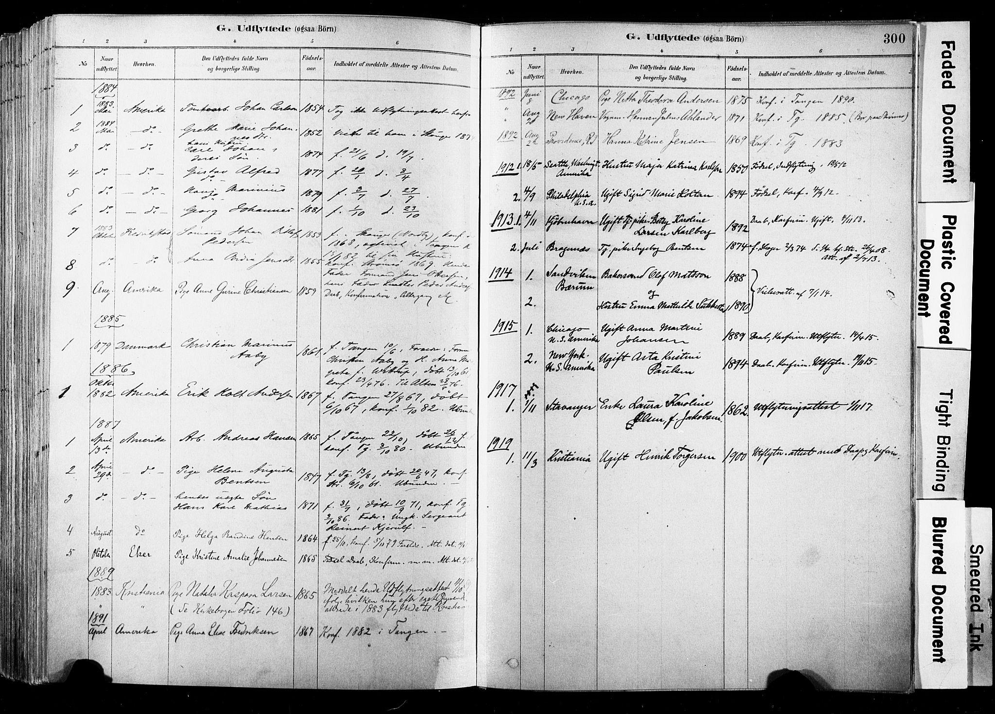 SAKO, Strømsø kirkebøker, F/Fb/L0006: Ministerialbok nr. II 6, 1879-1910, s. 300