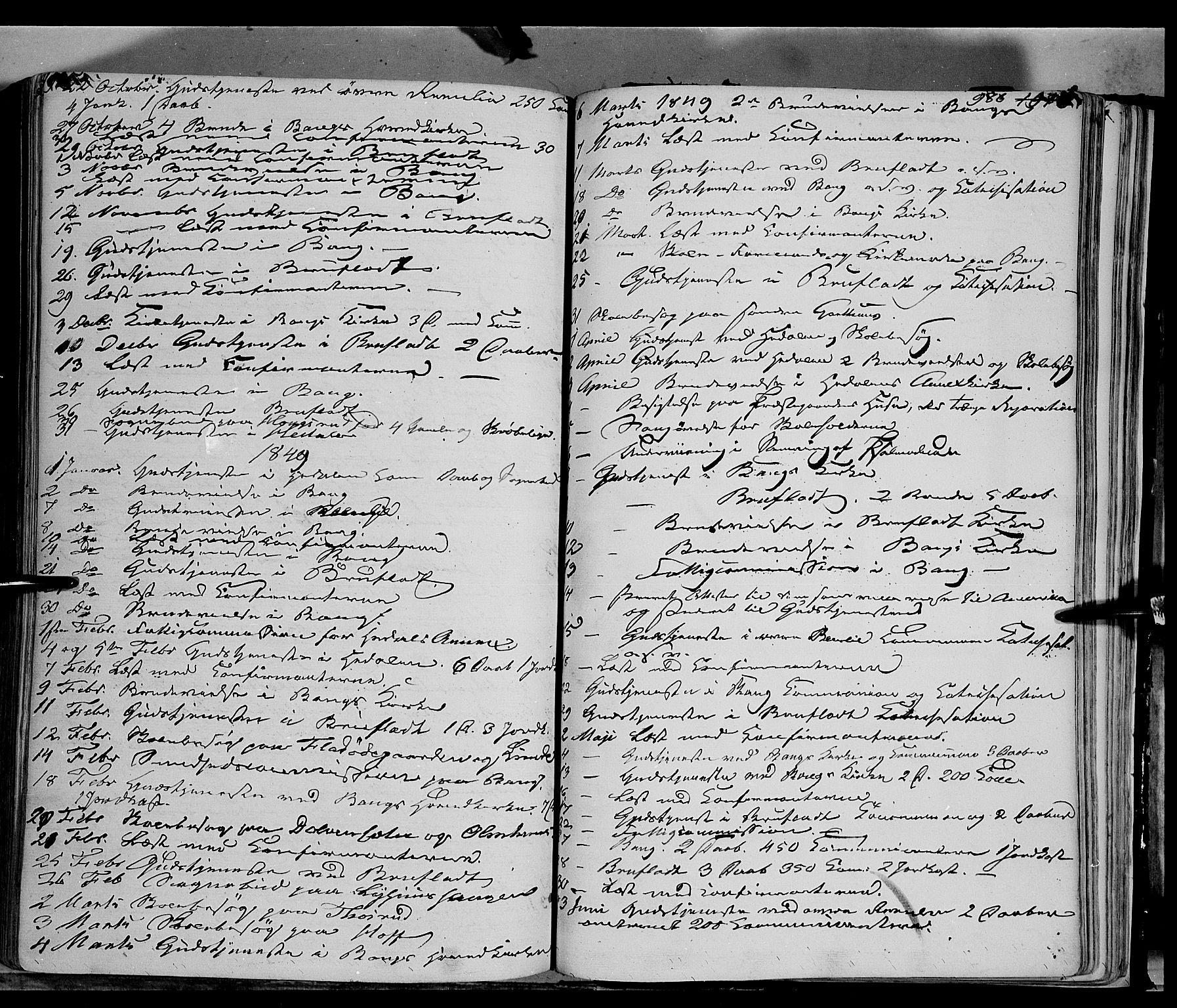 SAH, Sør-Aurdal prestekontor, Ministerialbok nr. 4, 1841-1849, s. 985-986