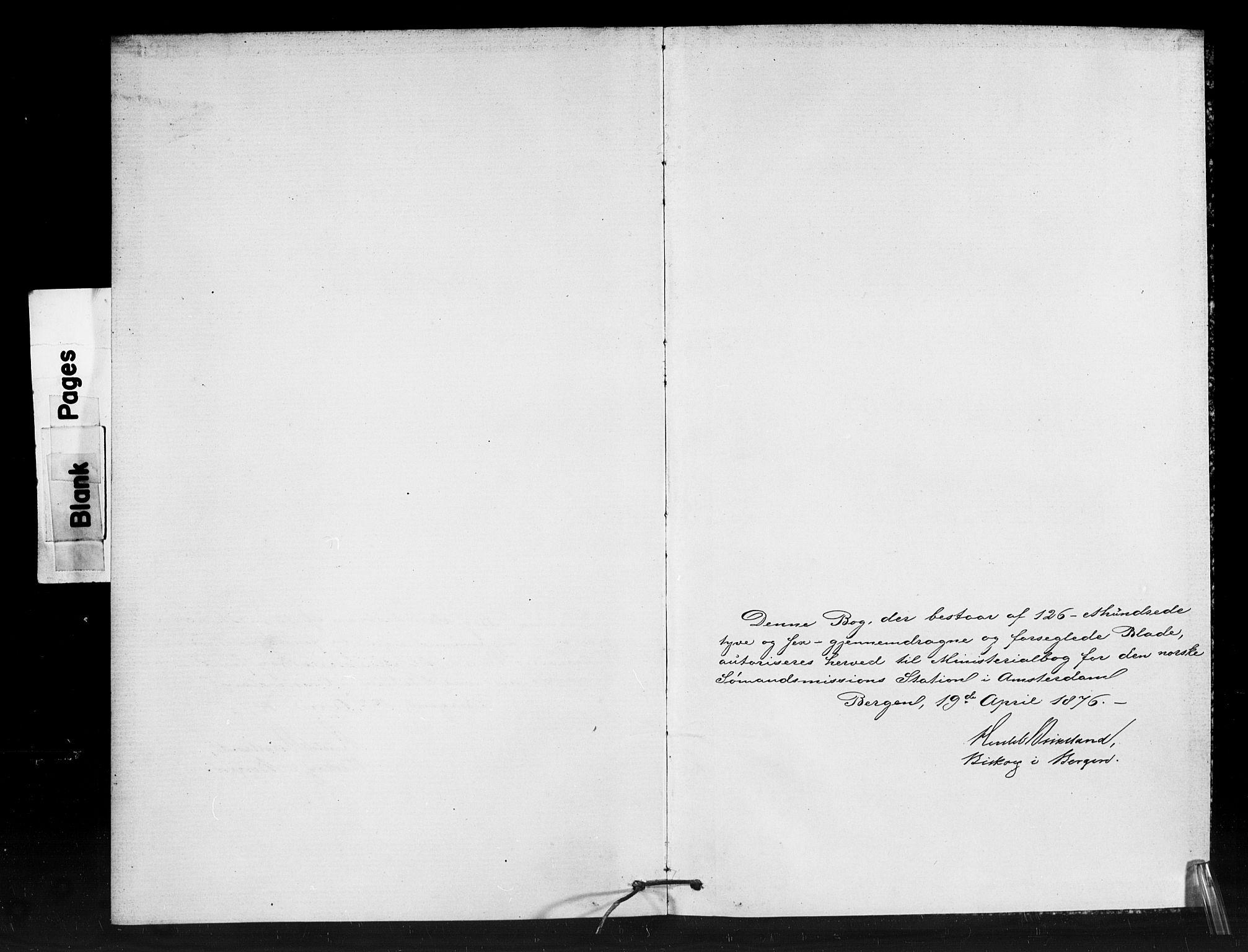 SAB, Den Norske Sjømannsmisjon i utlandet*, Ministerialbok nr. A 1, 1876-1887