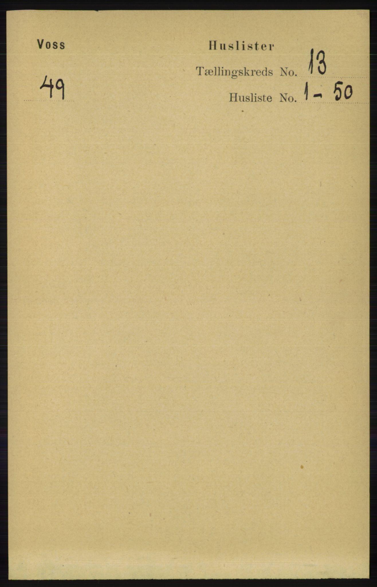 RA, Folketelling 1891 for 1235 Voss herred, 1891, s. 6836
