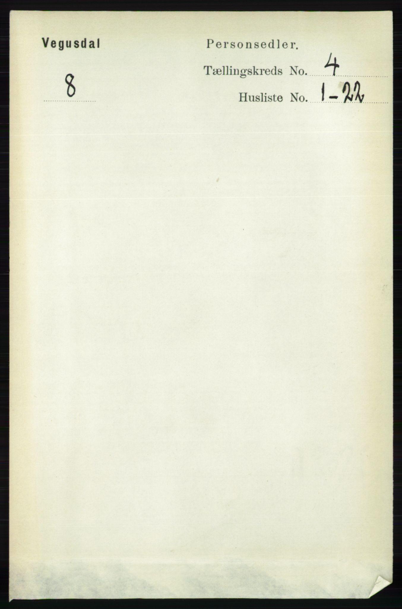 RA, Folketelling 1891 for 0934 Vegusdal herred, 1891, s. 710