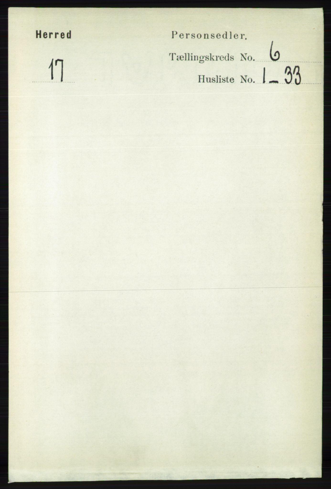 RA, Folketelling 1891 for 1039 Herad herred, 1891, s. 2301