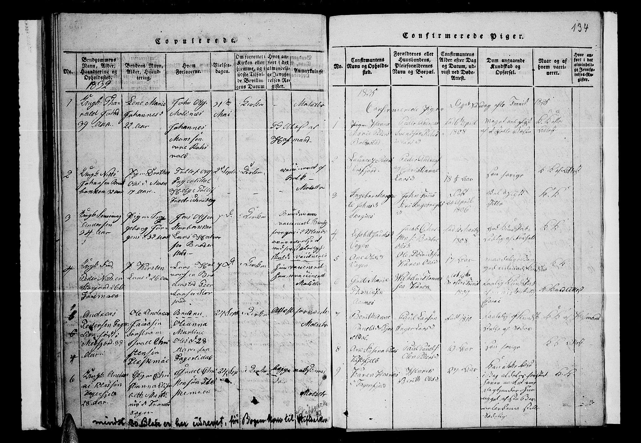 SATØ, Lenvik sokneprestembete, H/Ha: Klokkerbok nr. 1, 1822-1837, s. 134
