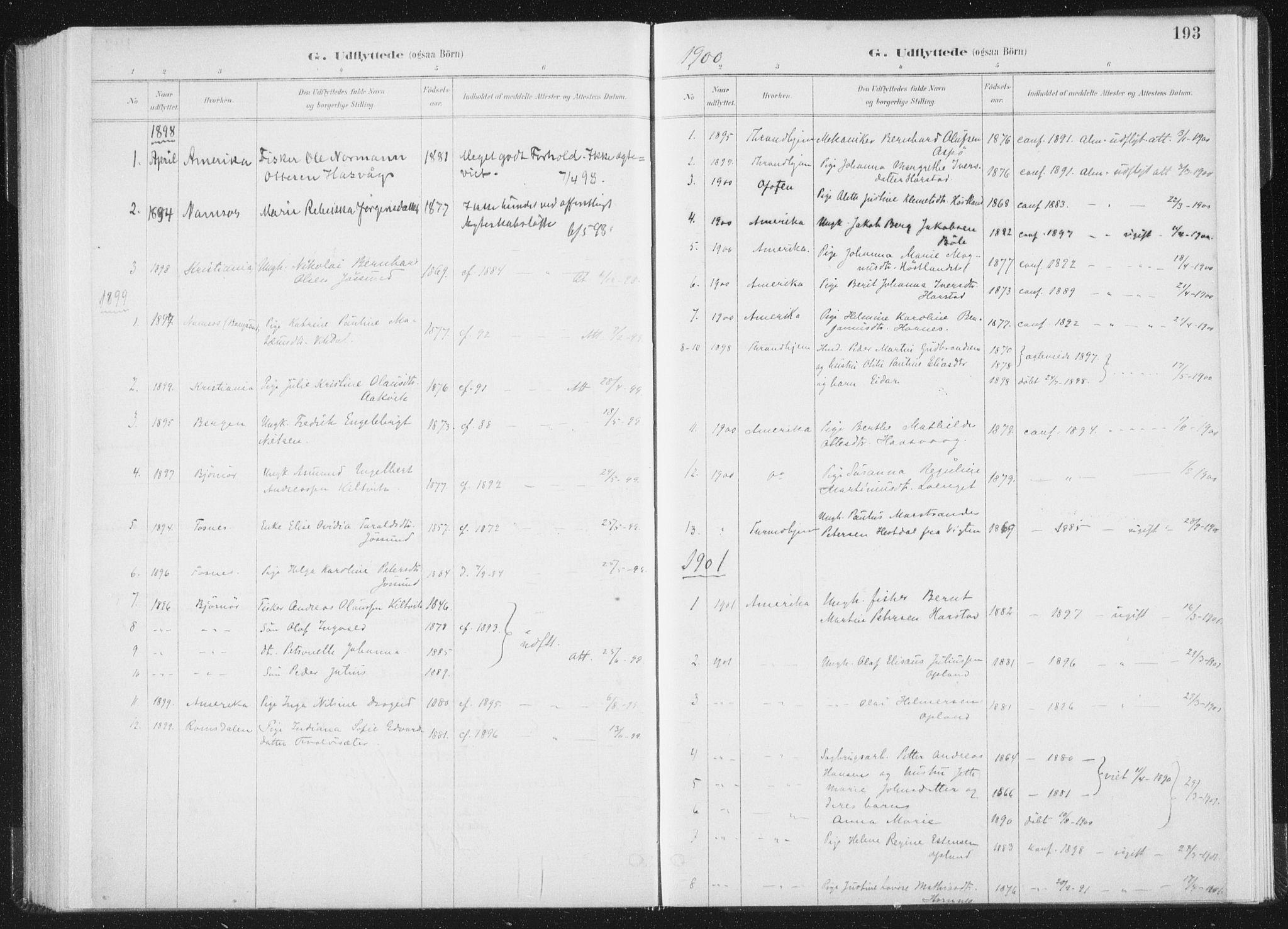 SAT, Ministerialprotokoller, klokkerbøker og fødselsregistre - Nord-Trøndelag, 771/L0597: Ministerialbok nr. 771A04, 1885-1910, s. 193