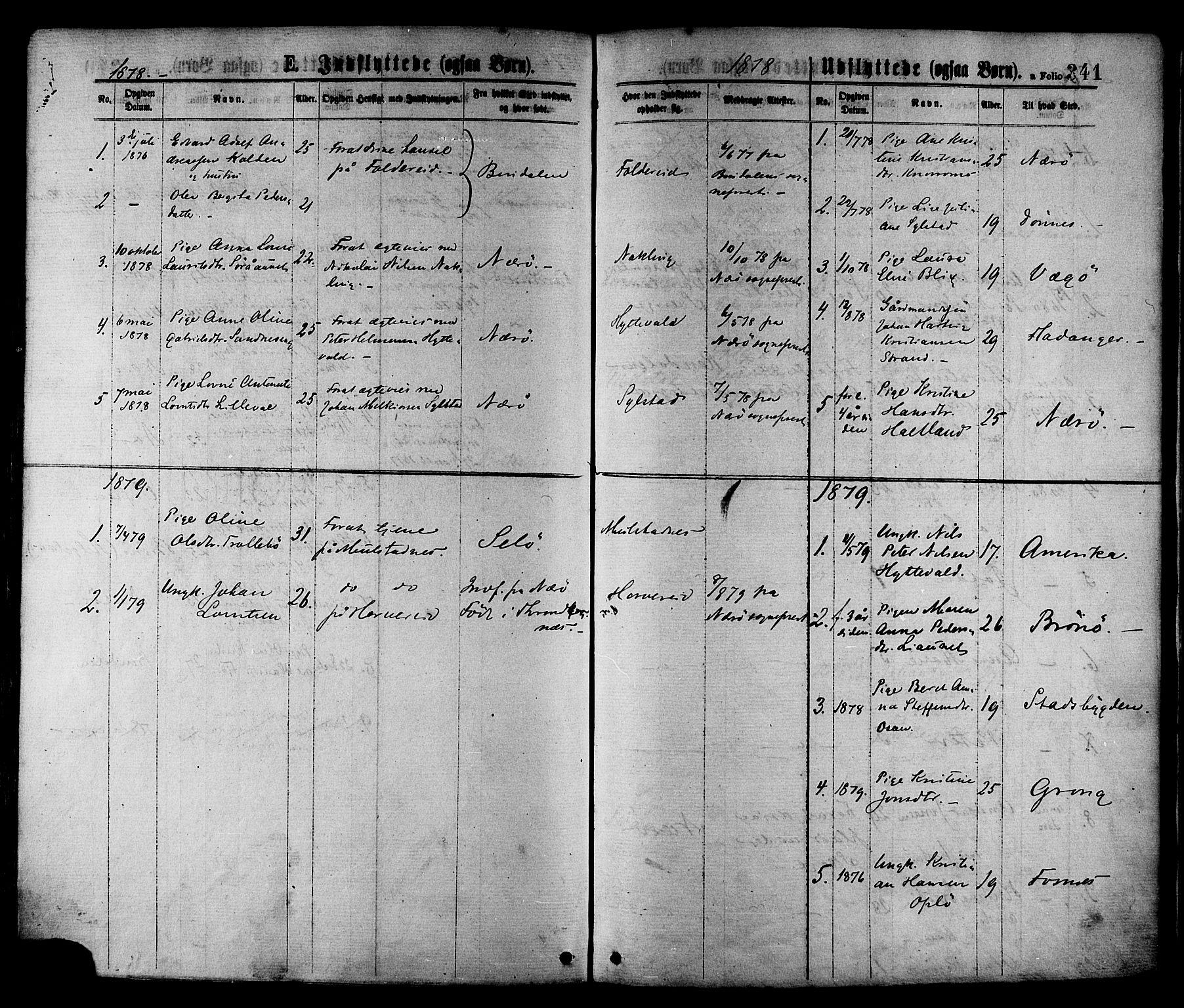 SAT, Ministerialprotokoller, klokkerbøker og fødselsregistre - Nord-Trøndelag, 780/L0642: Ministerialbok nr. 780A07 /1, 1874-1885, s. 341