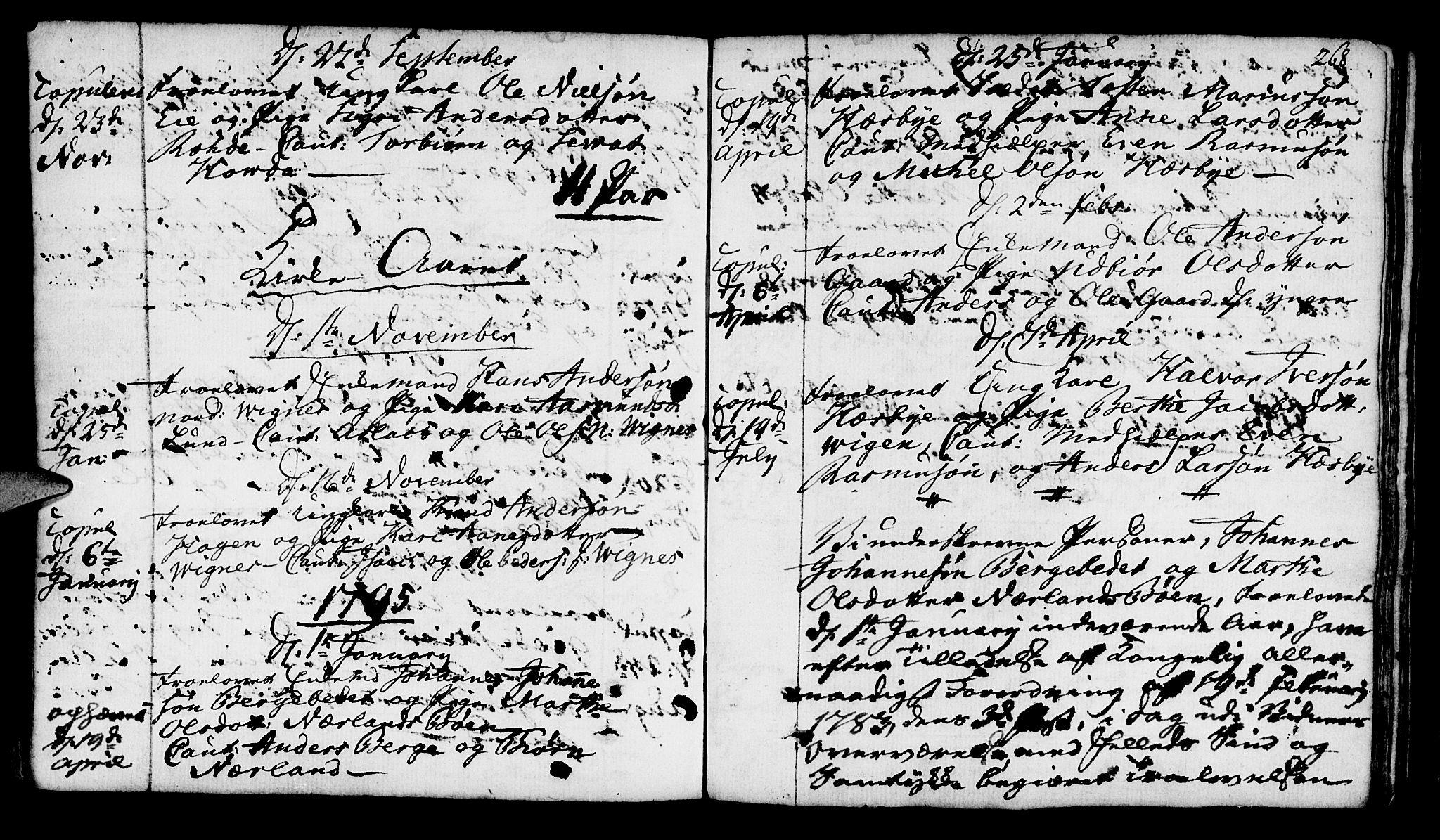 SAST, Finnøy sokneprestkontor, H/Ha/Haa/L0005: Ministerialbok nr. A 5, 1773-1816, s. 268