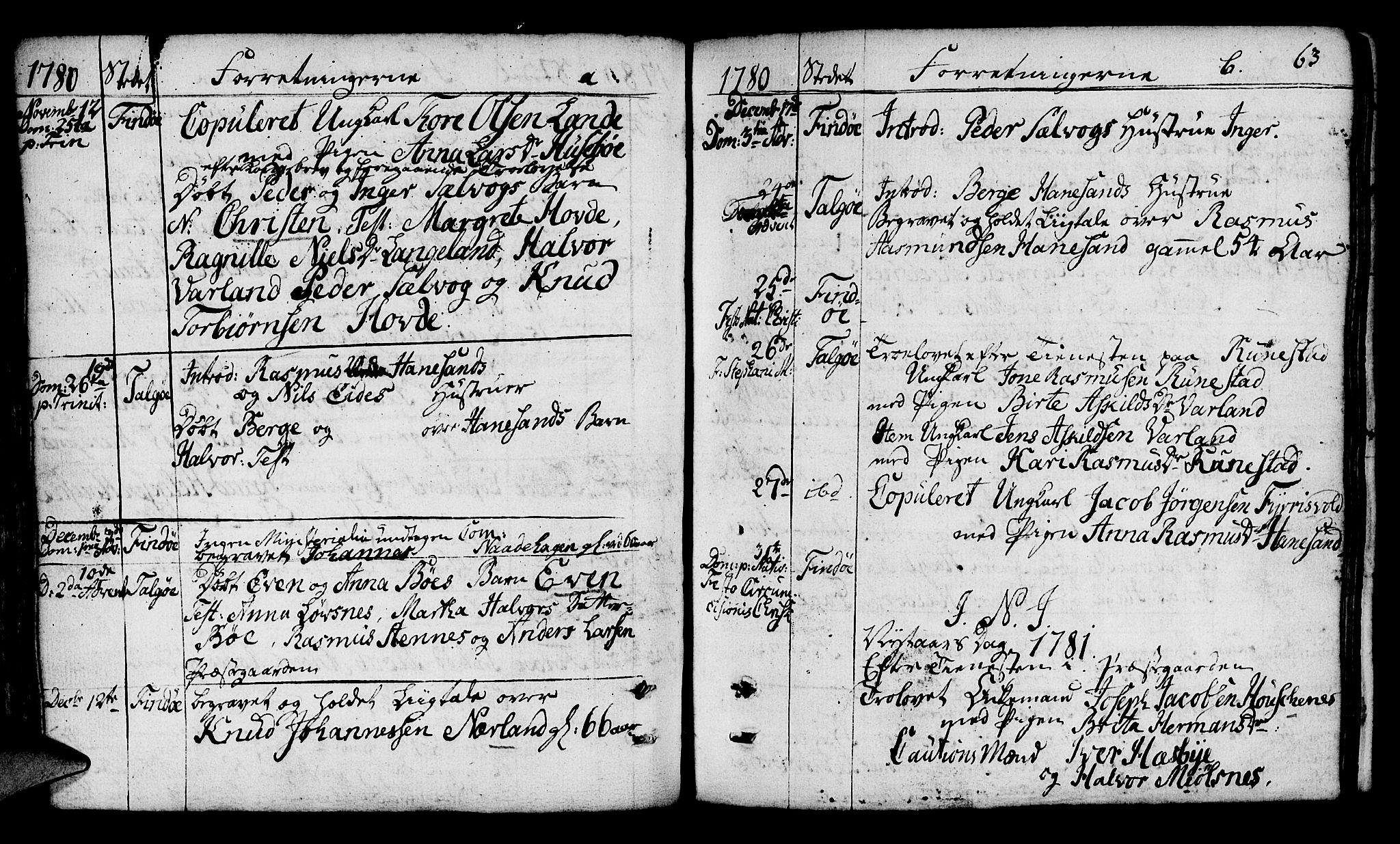 SAST, Finnøy sokneprestkontor, H/Ha/Haa/L0005: Ministerialbok nr. A 5, 1773-1816, s. 63
