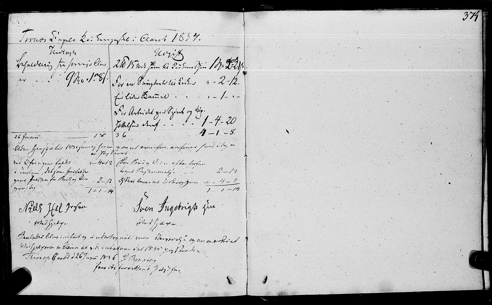 SAT, Ministerialprotokoller, klokkerbøker og fødselsregistre - Nord-Trøndelag, 762/L0538: Ministerialbok nr. 762A02 /2, 1833-1879, s. 374