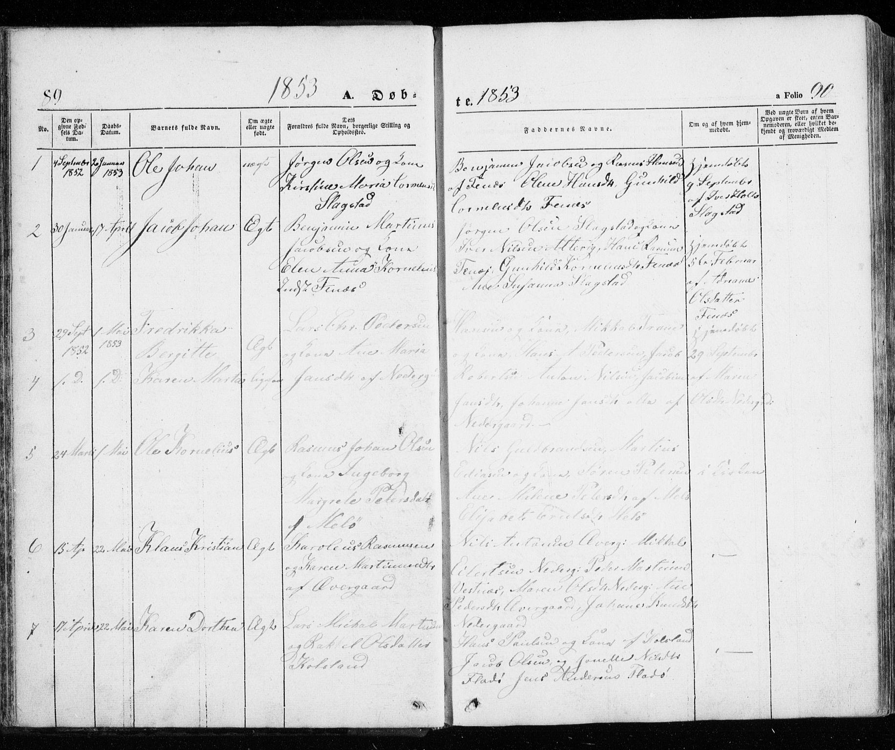 SATØ, Trondenes sokneprestkontor, H/Ha/L0010kirke: Ministerialbok nr. 10, 1840-1865, s. 89-90