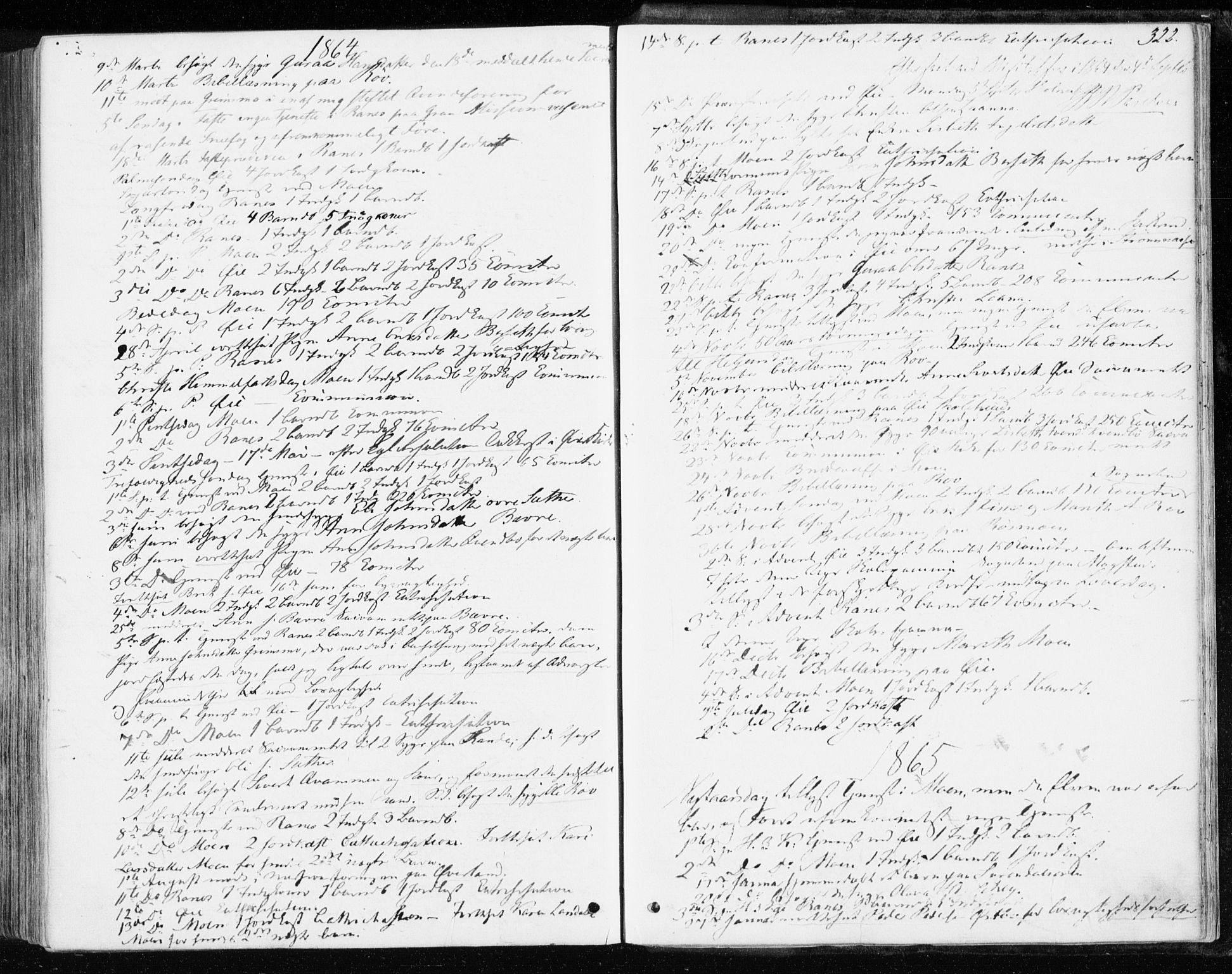 SAT, Ministerialprotokoller, klokkerbøker og fødselsregistre - Møre og Romsdal, 595/L1045: Ministerialbok nr. 595A07, 1863-1873, s. 322