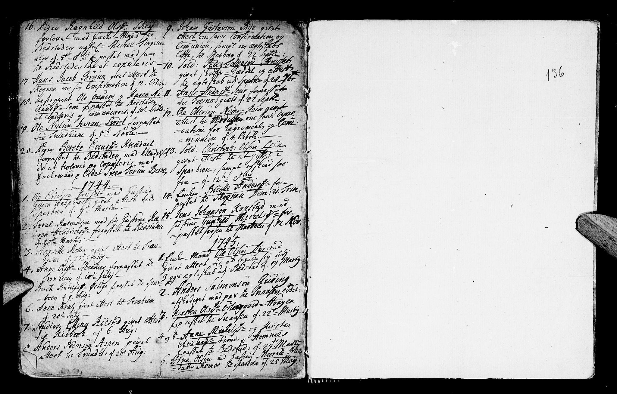 SAT, Ministerialprotokoller, klokkerbøker og fødselsregistre - Nord-Trøndelag, 746/L0439: Ministerialbok nr. 746A01, 1688-1759, s. 136