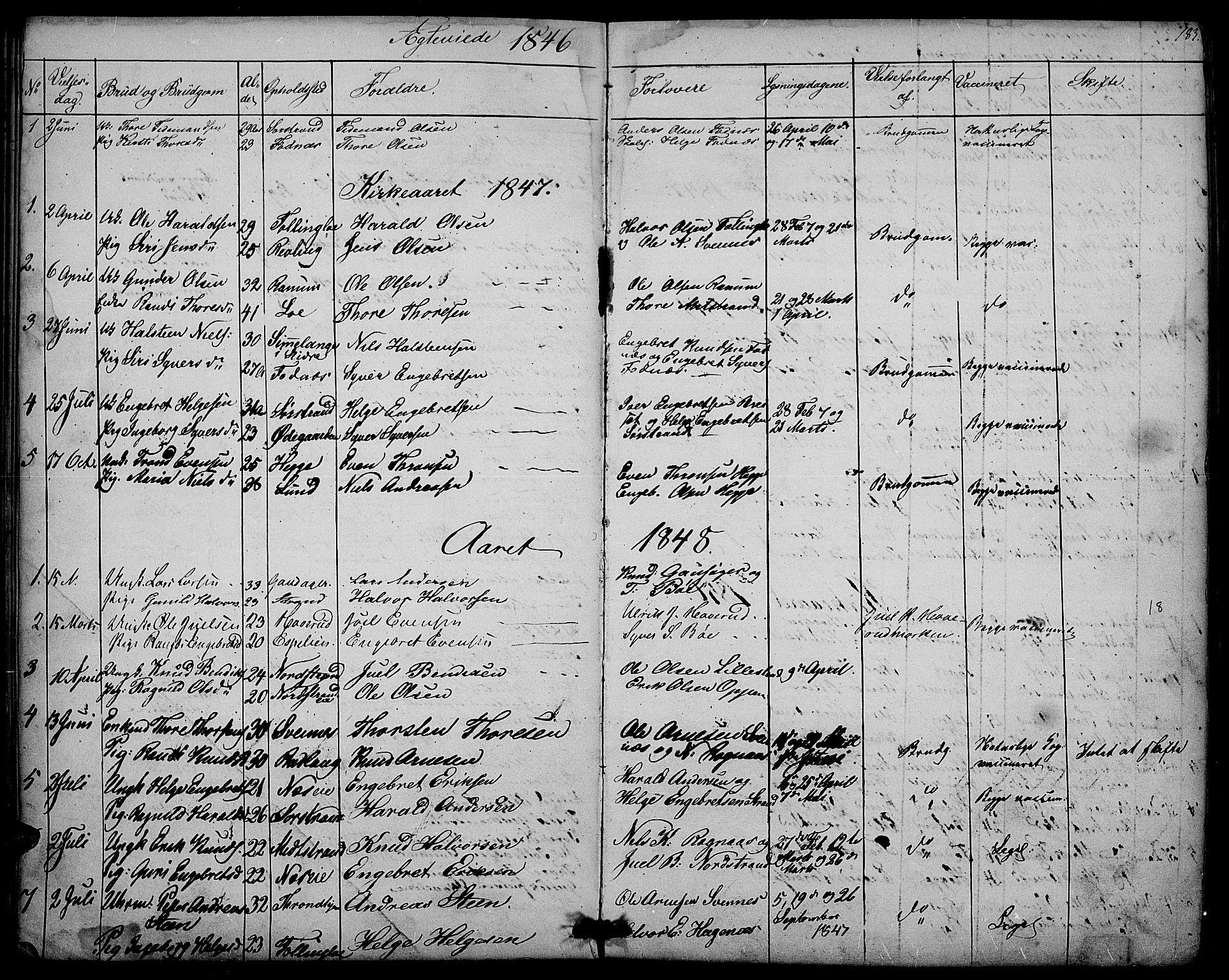 SAH, Nord-Aurdal prestekontor, Klokkerbok nr. 3, 1842-1882, s. 183