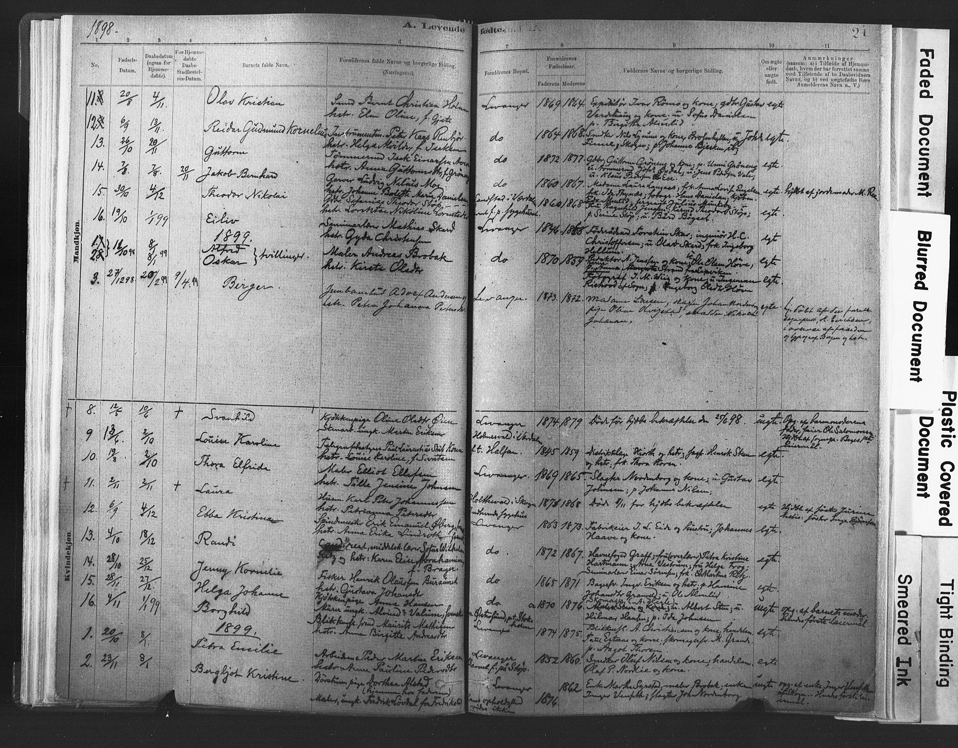 SAT, Ministerialprotokoller, klokkerbøker og fødselsregistre - Nord-Trøndelag, 720/L0189: Ministerialbok nr. 720A05, 1880-1911, s. 24
