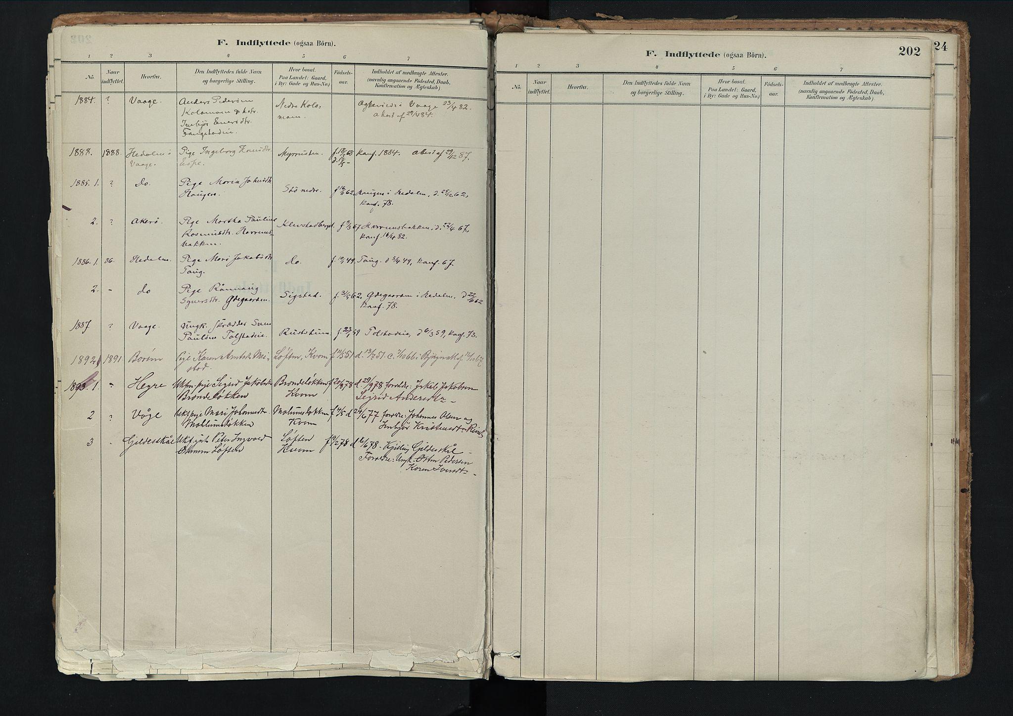 SAH, Nord-Fron prestekontor, Ministerialbok nr. 3, 1884-1914, s. 202