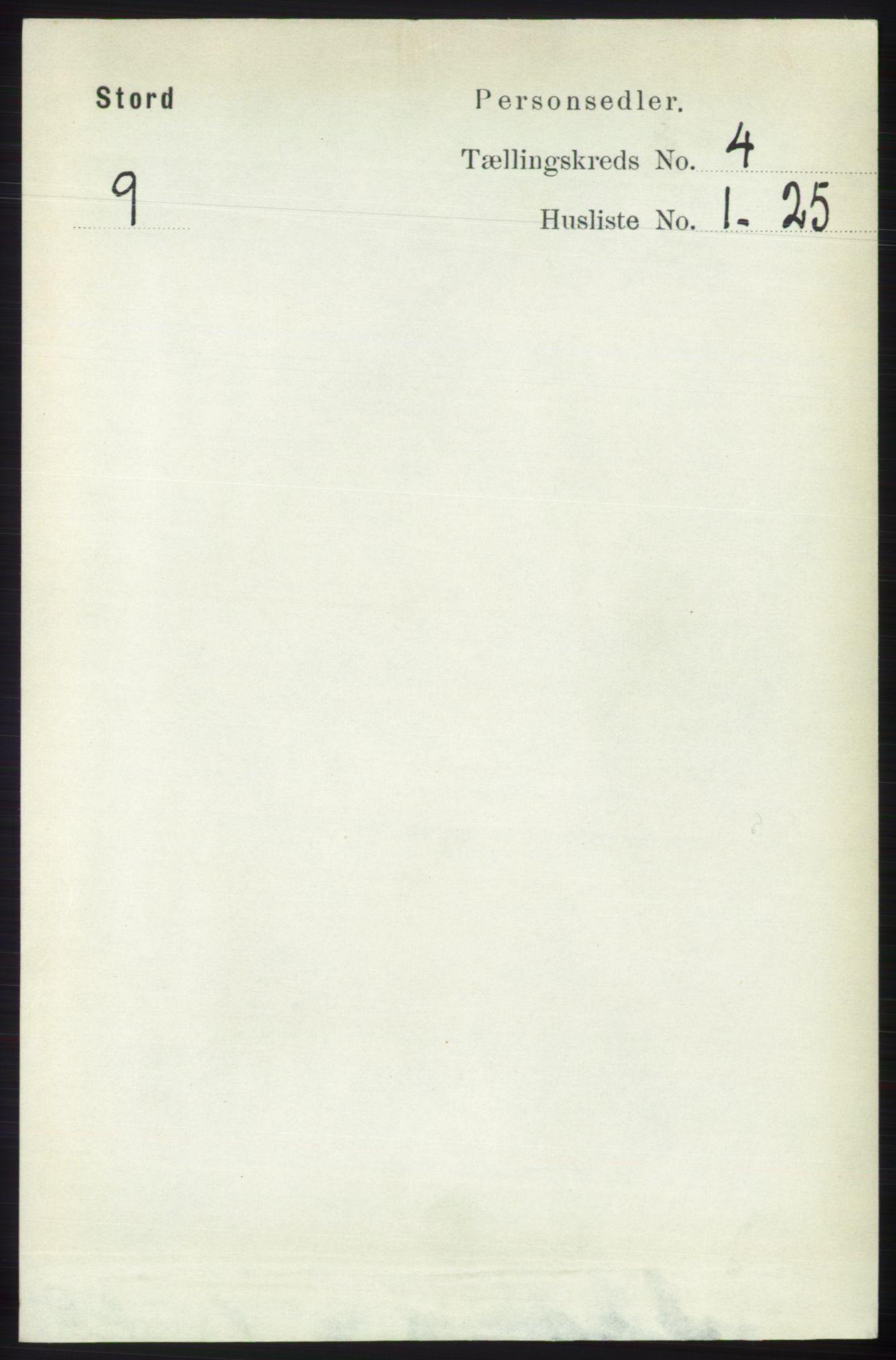 RA, Folketelling 1891 for 1221 Stord herred, 1891, s. 1034
