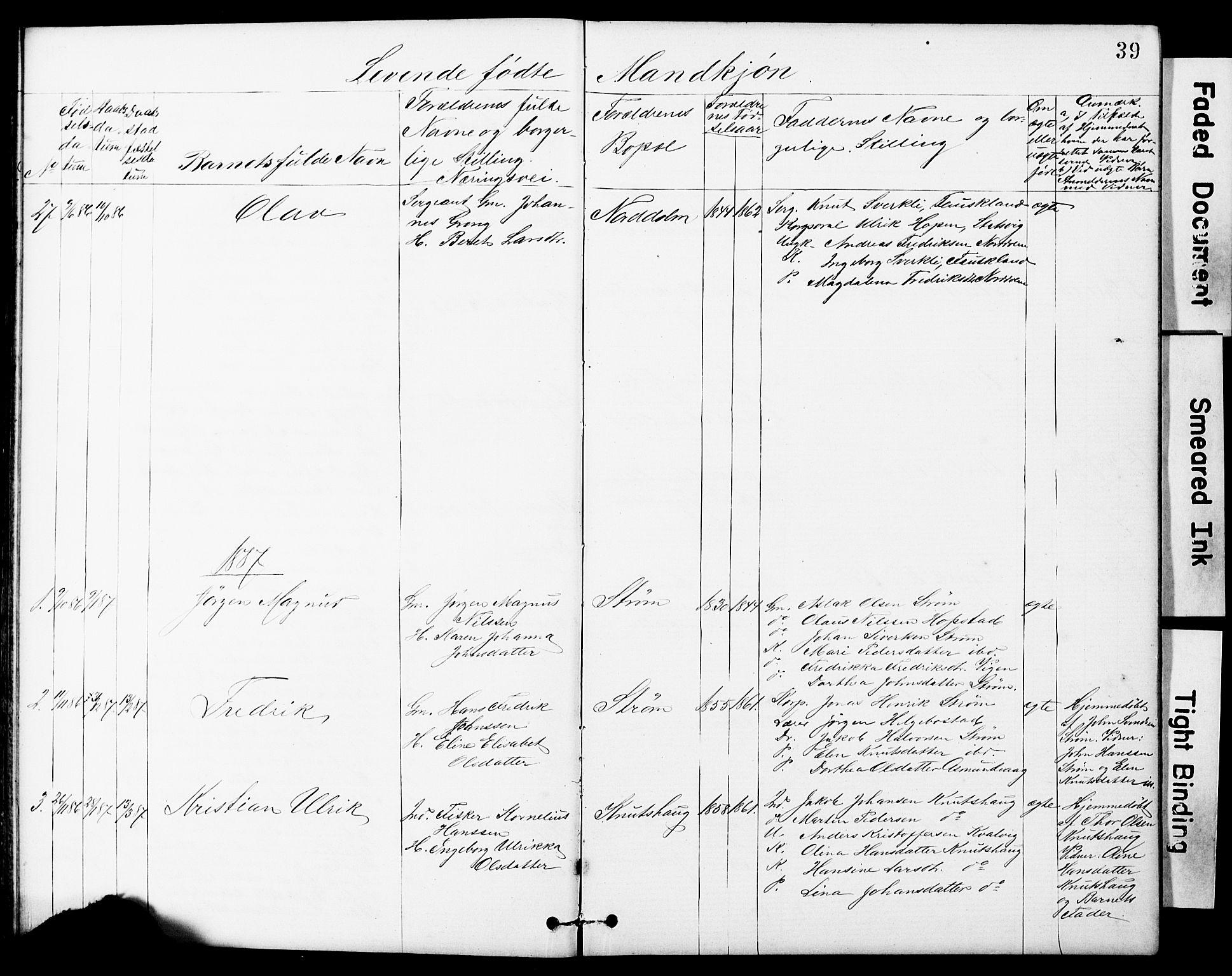 SAT, Ministerialprotokoller, klokkerbøker og fødselsregistre - Sør-Trøndelag, 634/L0541: Klokkerbok nr. 634C03, 1874-1891, s. 39