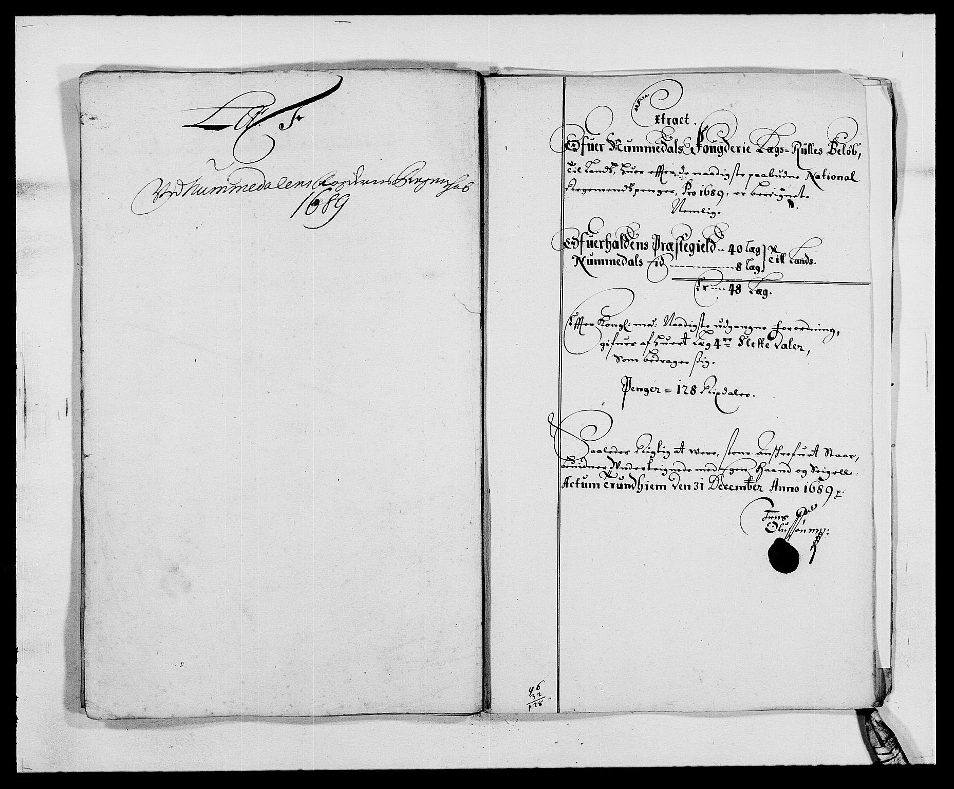 RA, Rentekammeret inntil 1814, Reviderte regnskaper, Fogderegnskap, R64/L4422: Fogderegnskap Namdal, 1687-1689, s. 228