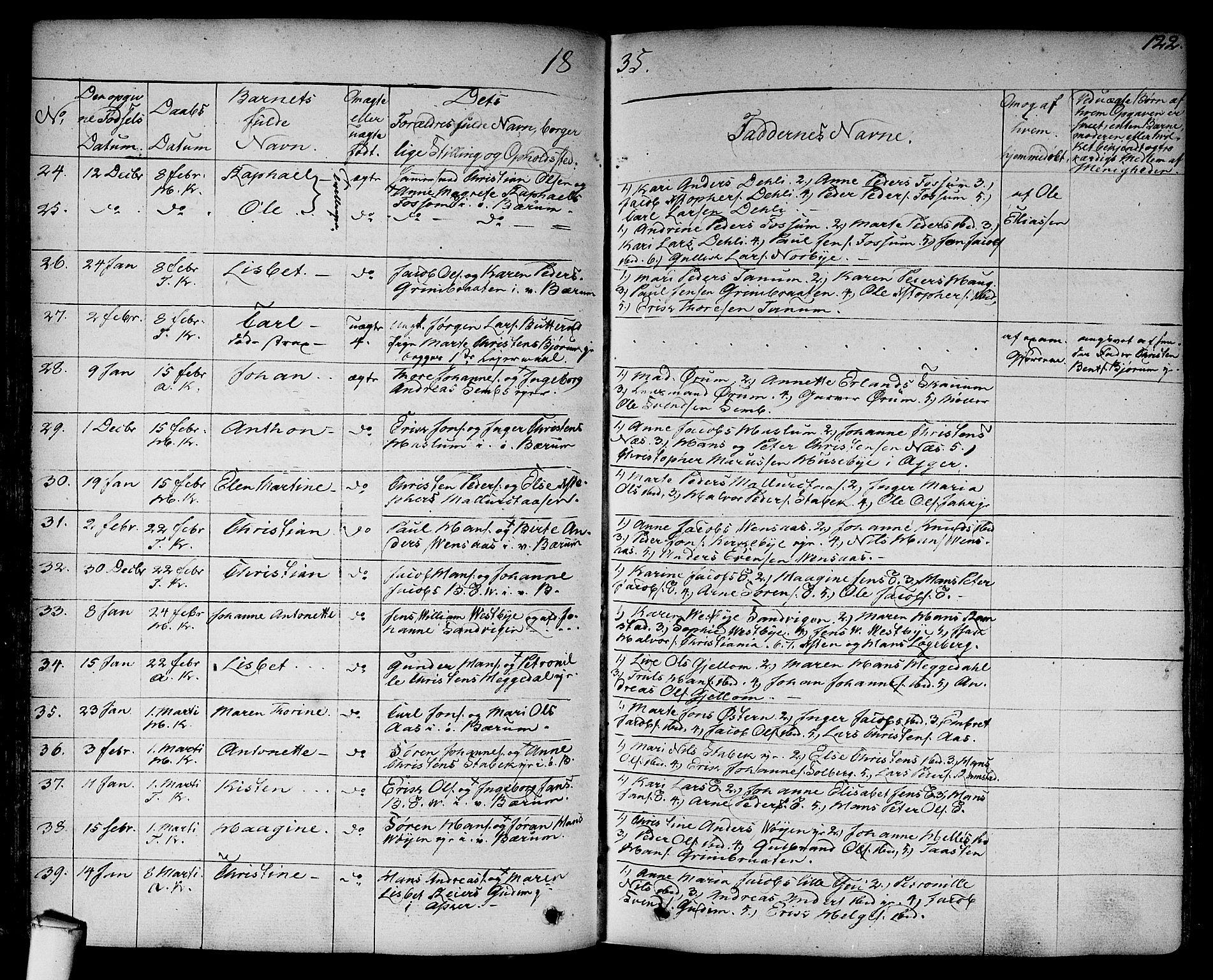 SAO, Asker prestekontor Kirkebøker, F/Fa/L0007: Ministerialbok nr. I 7, 1825-1864, s. 122