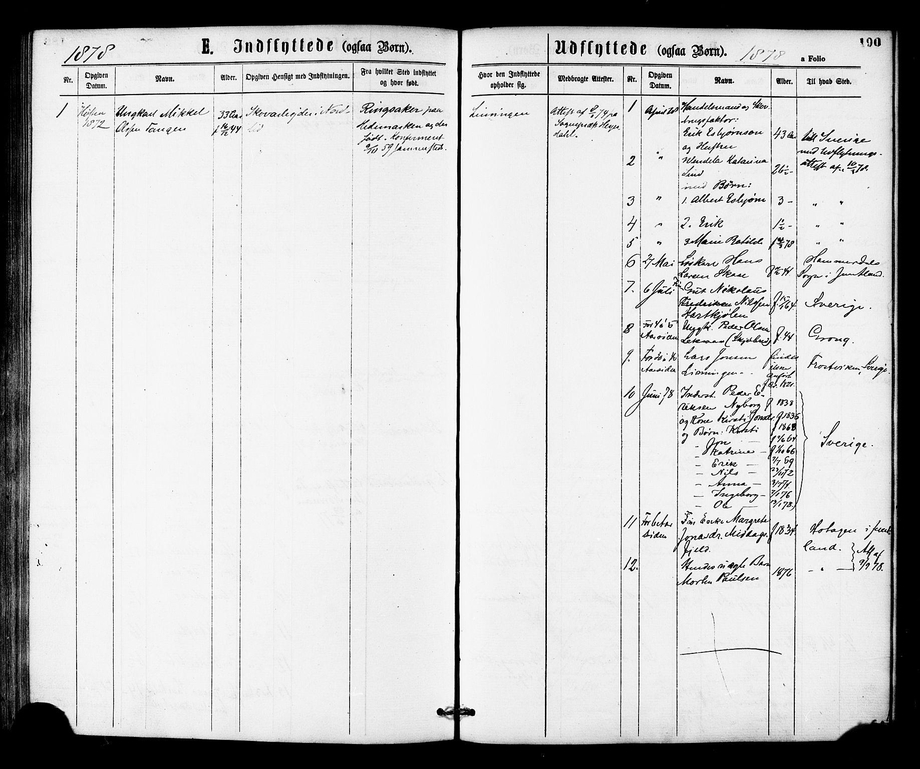SAT, Ministerialprotokoller, klokkerbøker og fødselsregistre - Nord-Trøndelag, 755/L0493: Ministerialbok nr. 755A02, 1865-1881, s. 190