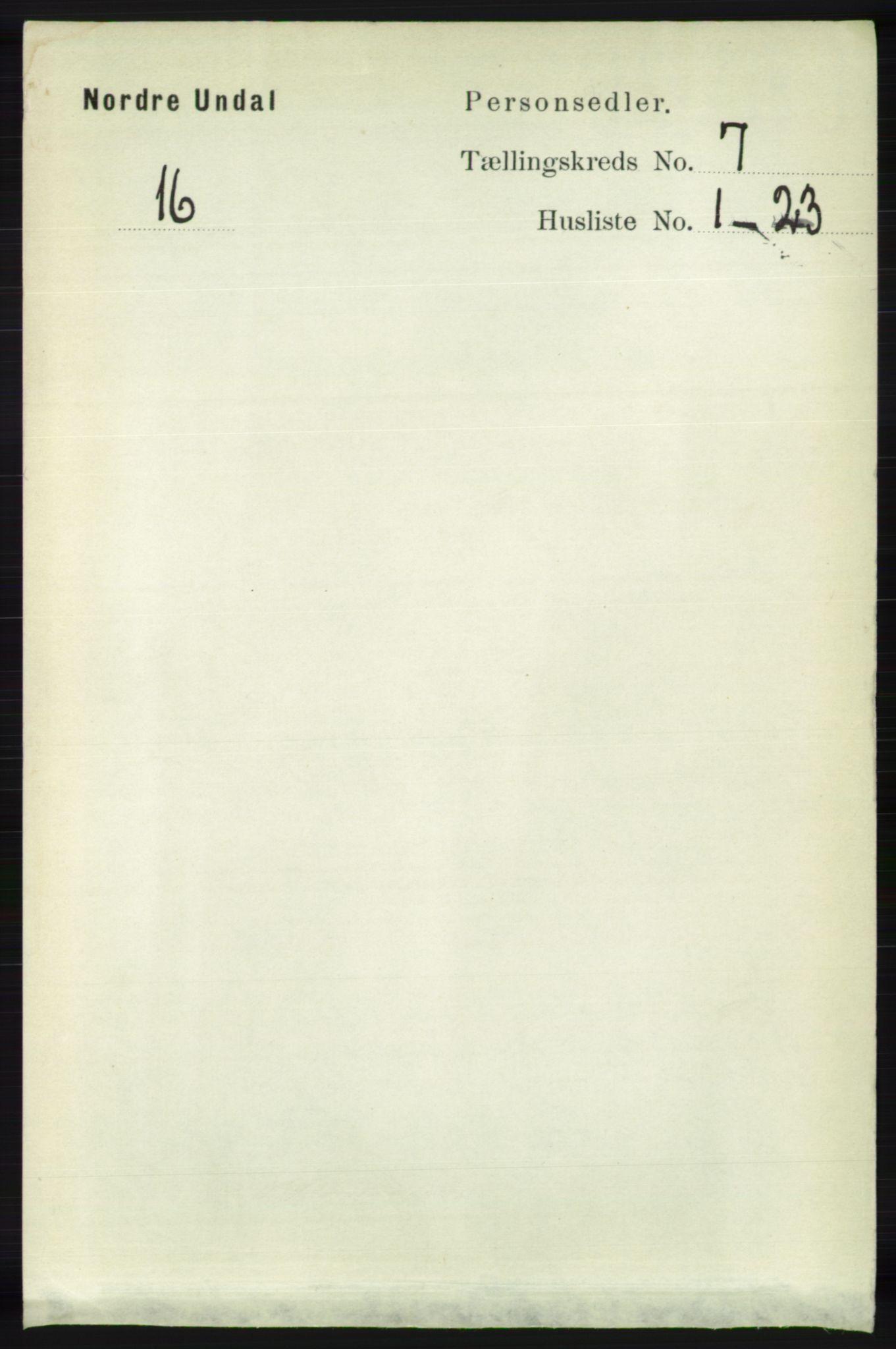 RA, Folketelling 1891 for 1028 Nord-Audnedal herred, 1891, s. 1783