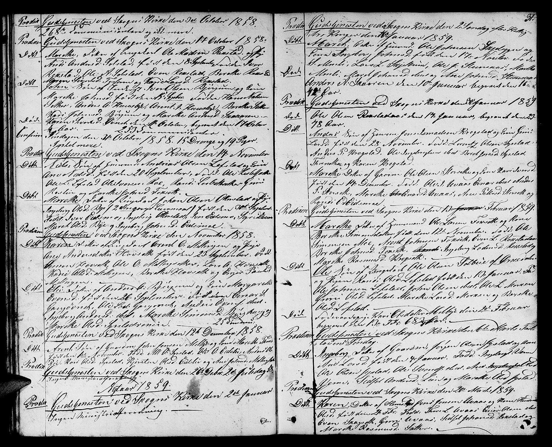 SAT, Ministerialprotokoller, klokkerbøker og fødselsregistre - Sør-Trøndelag, 667/L0797: Klokkerbok nr. 667C02, 1849-1867, s. 31