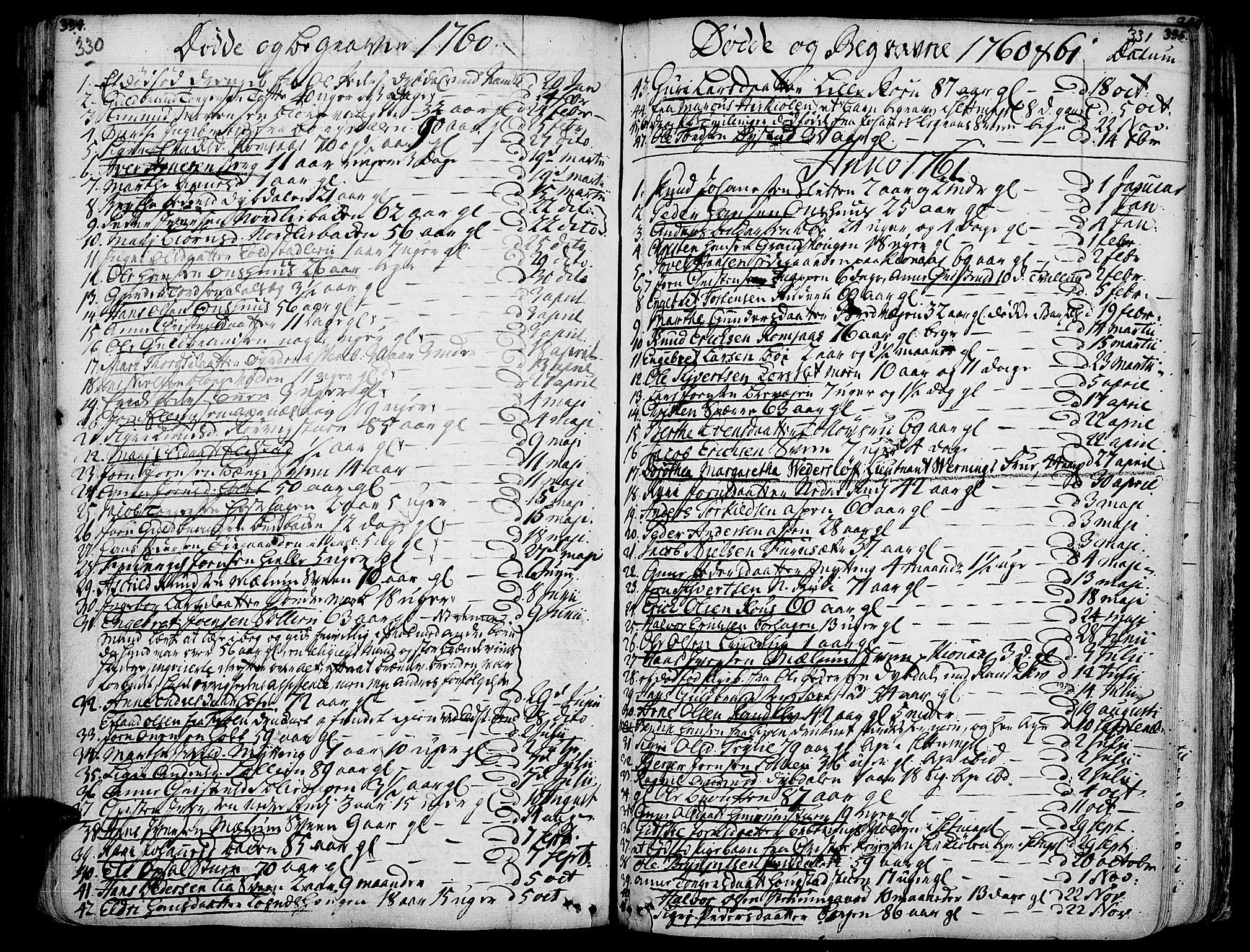 SAH, Ringebu prestekontor, Ministerialbok nr. 2, 1734-1780, s. 330-331