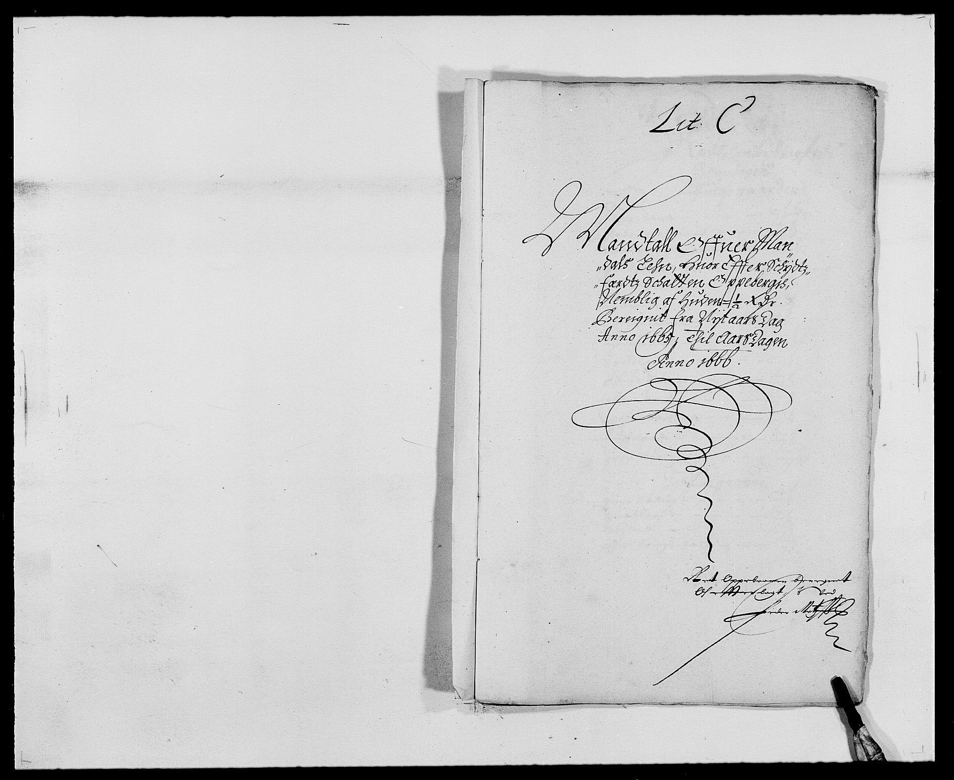 RA, Rentekammeret inntil 1814, Reviderte regnskaper, Fogderegnskap, R42/L2537: Mandal fogderi, 1664-1666, s. 146