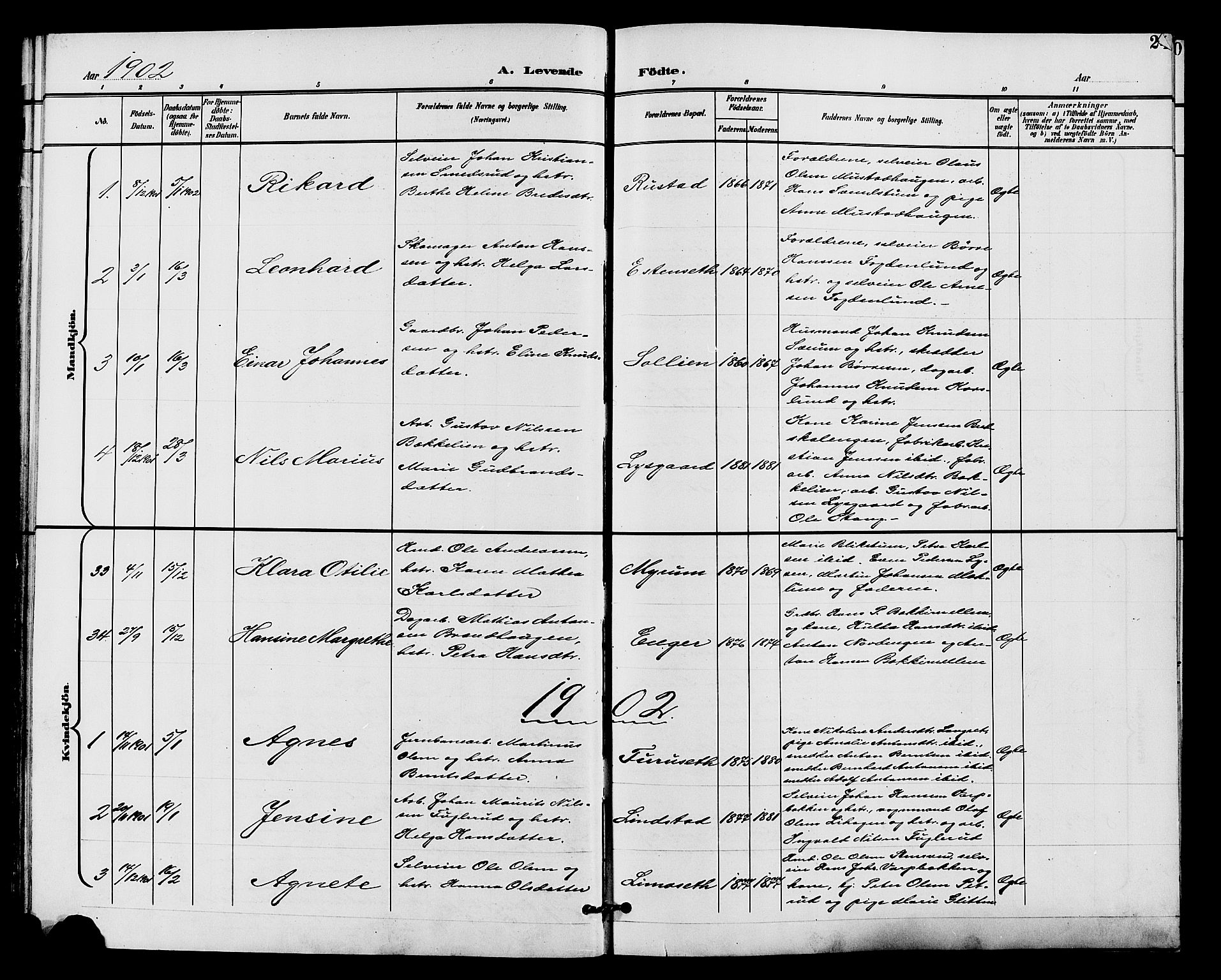 SAH, Vardal prestekontor, H/Ha/Hab/L0011: Klokkerbok nr. 11, 1899-1913, s. 24