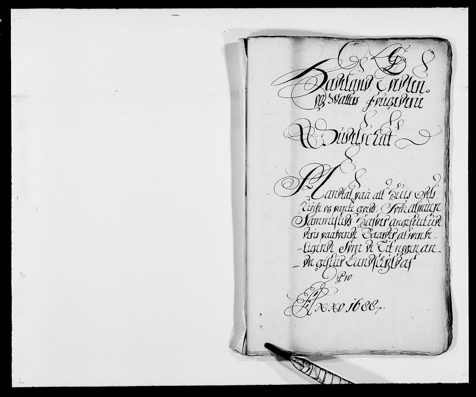 RA, Rentekammeret inntil 1814, Reviderte regnskaper, Fogderegnskap, R18/L1287: Fogderegnskap Hadeland, Toten og Valdres, 1688, s. 215