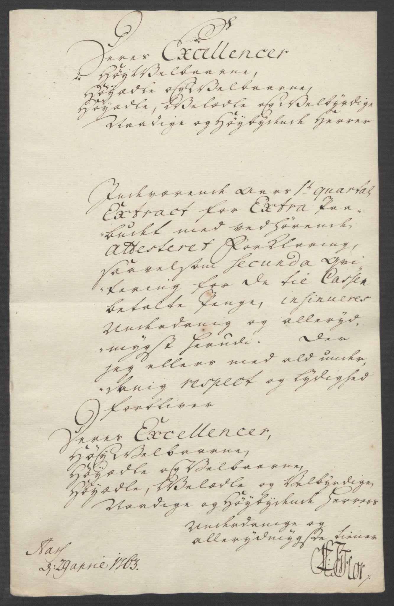 RA, Rentekammeret inntil 1814, Reviderte regnskaper, Fogderegnskap, R24/L1672: Ekstraskatten Numedal og Sandsvær, 1762-1767, s. 174