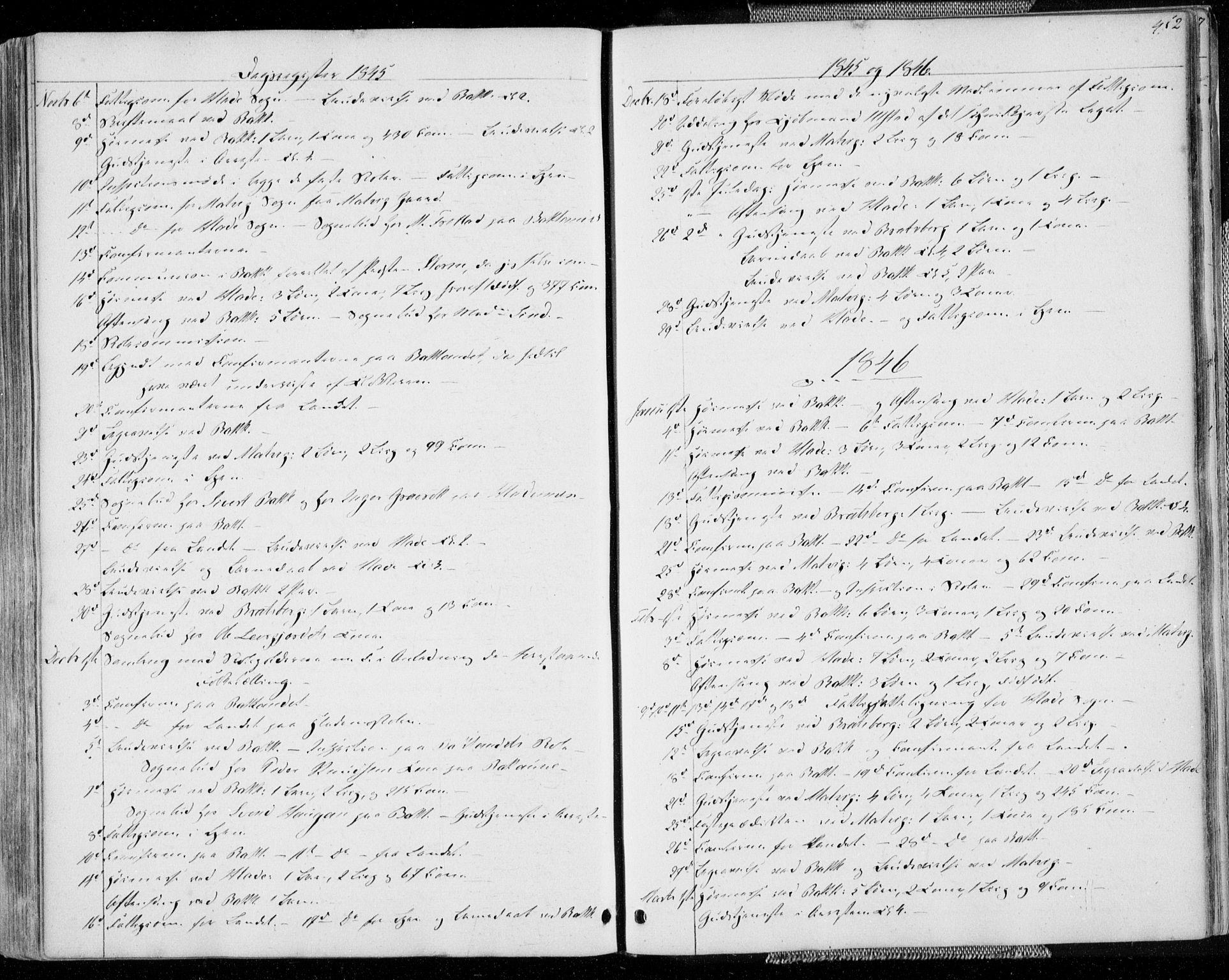 SAT, Ministerialprotokoller, klokkerbøker og fødselsregistre - Sør-Trøndelag, 606/L0290: Ministerialbok nr. 606A05, 1841-1847, s. 452