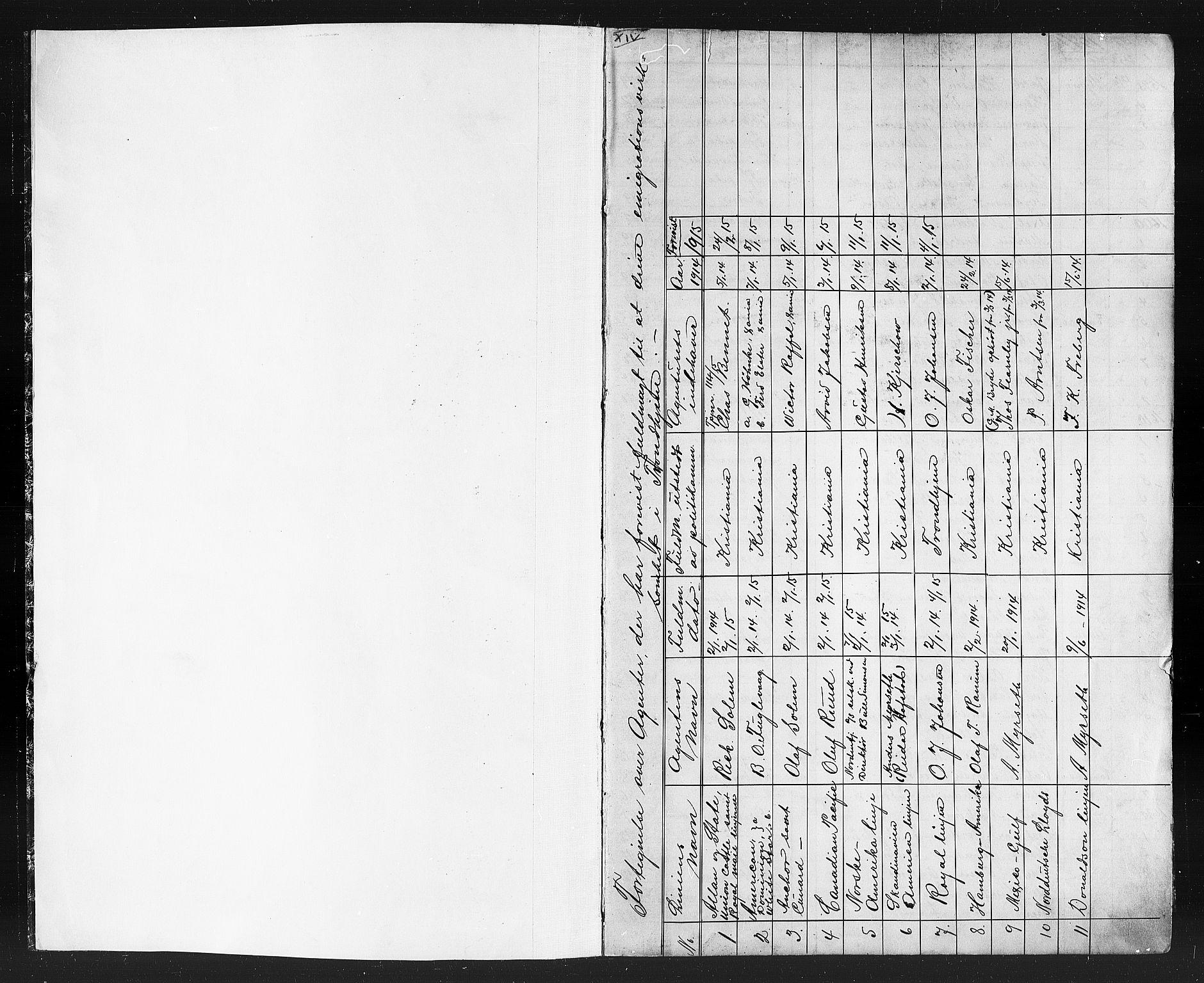 SAT, Trondheim politikammer, 32/L0015: Emigrantprotokoll XIV 12.04-23.08, 1911-1916