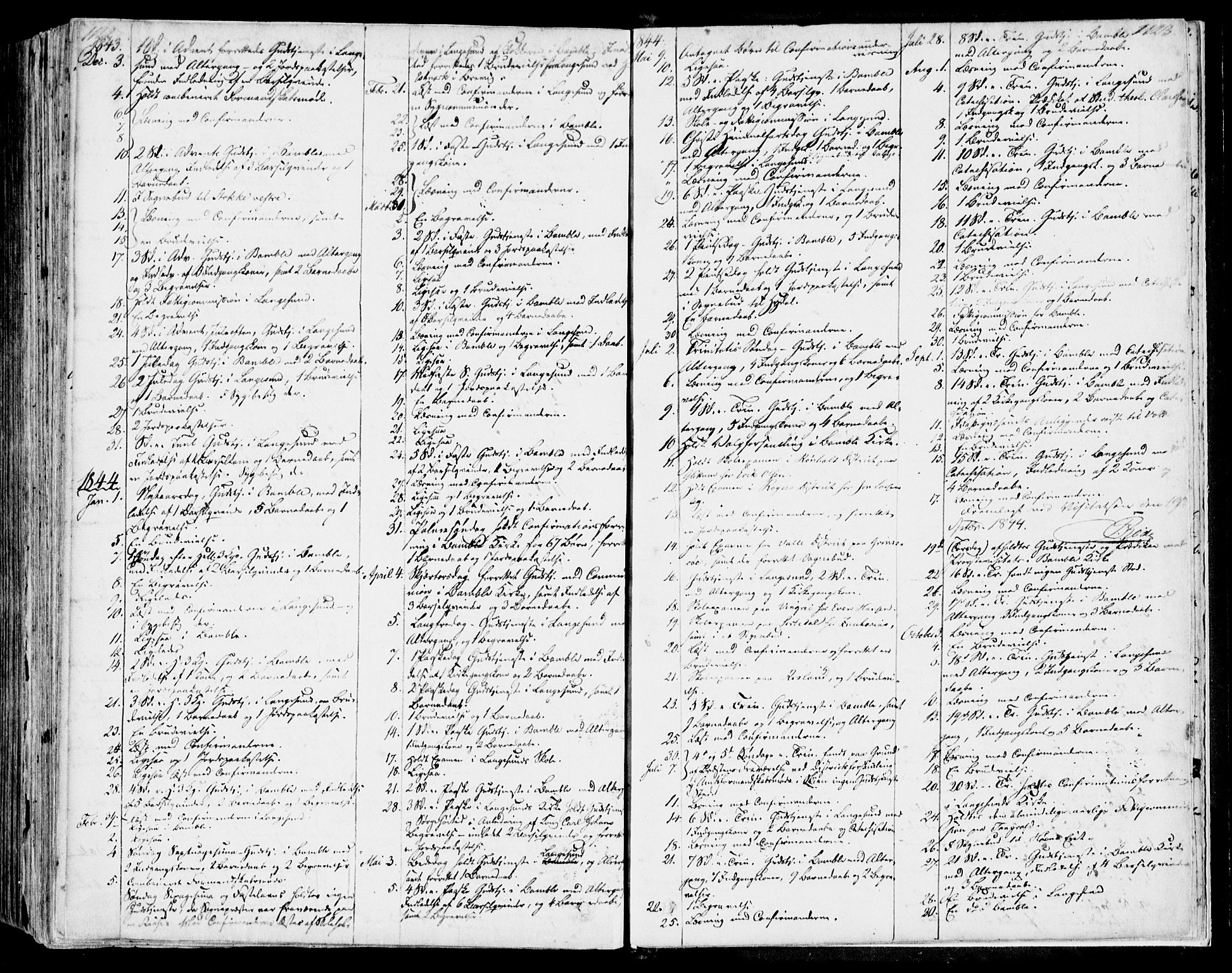 SAKO, Bamble kirkebøker, F/Fa/L0004: Ministerialbok nr. I 4, 1834-1853, s. 1122-1123