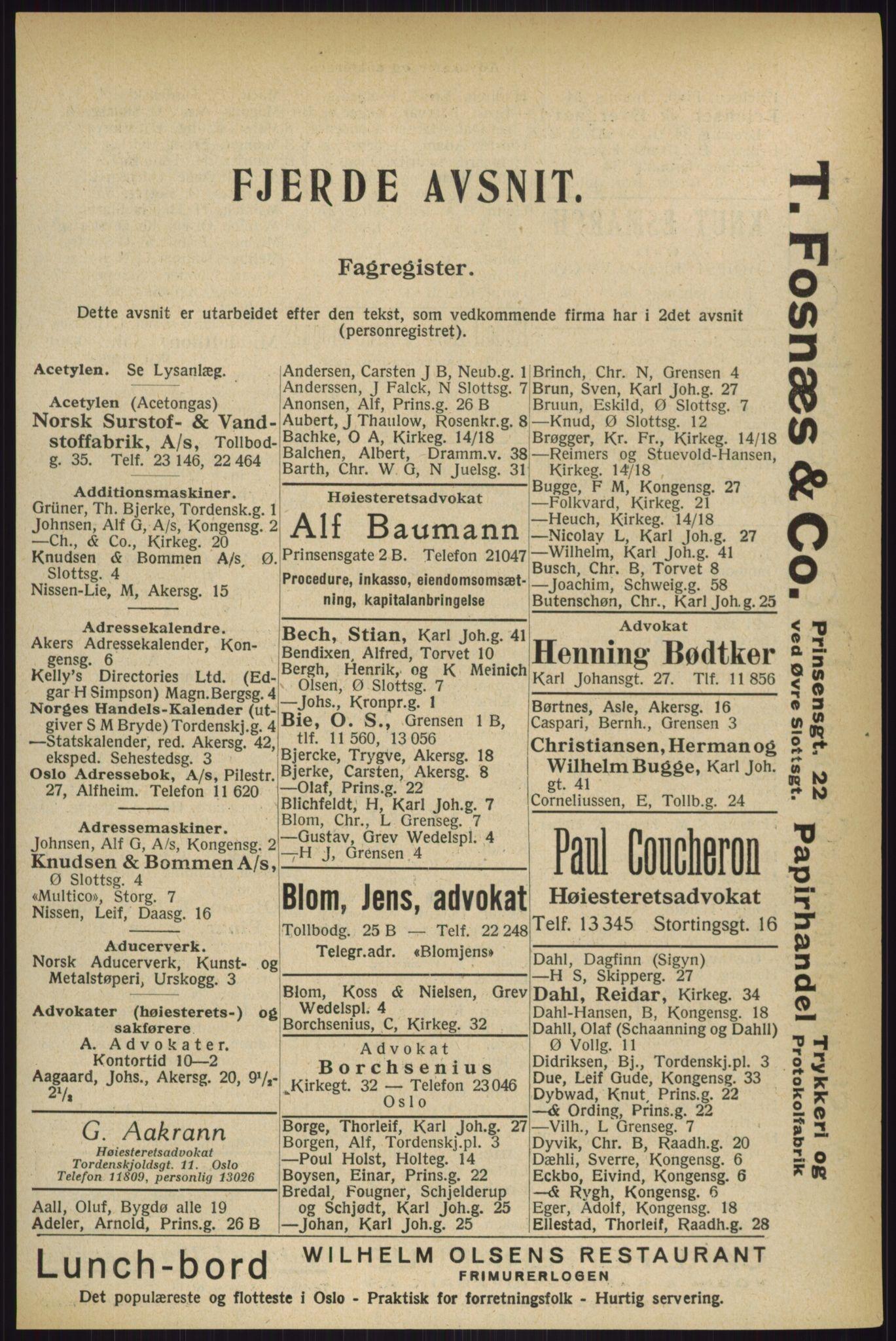 RA, Oslo adressebok (publikasjon)*, 1927, s. 1977