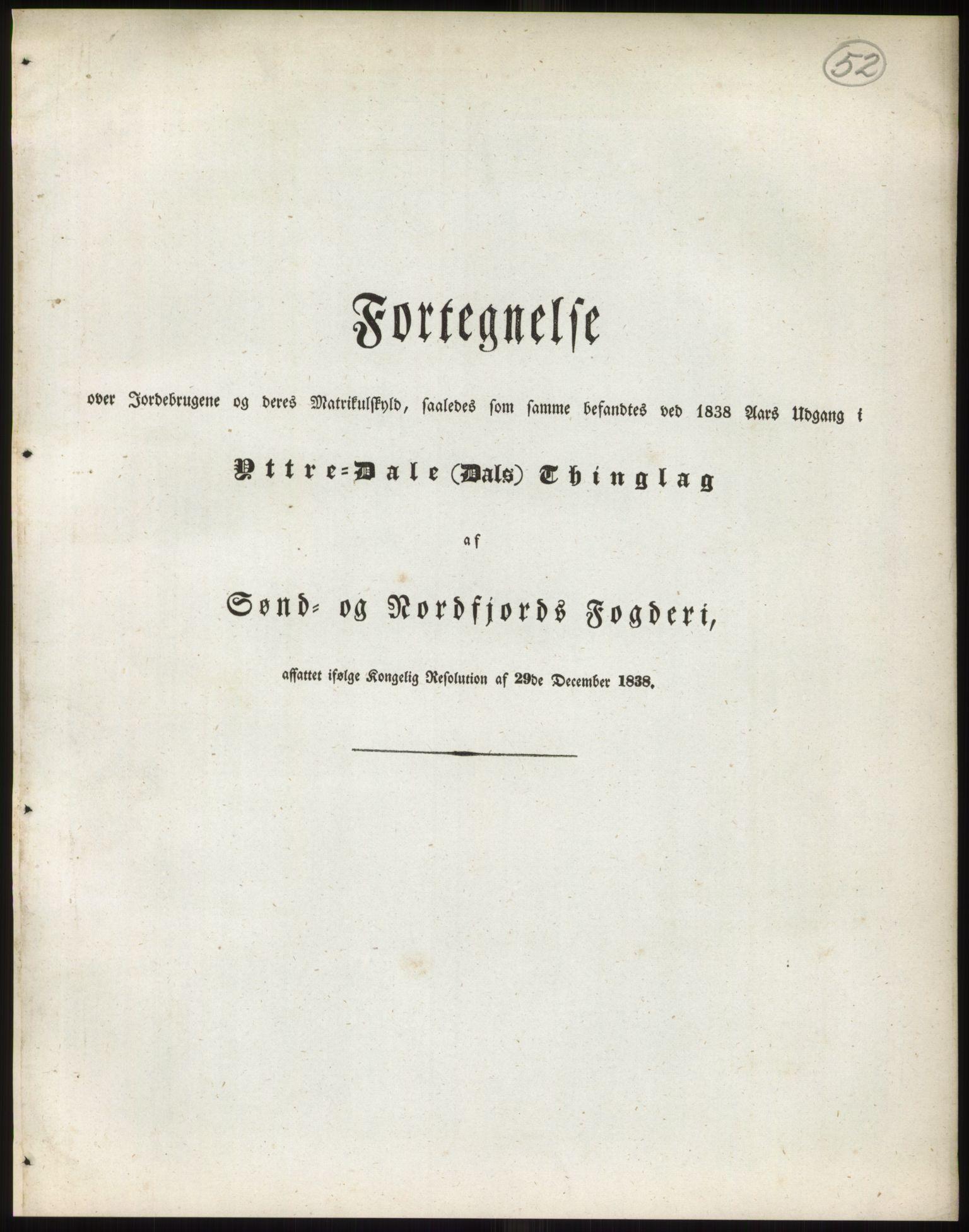 RA, 1838-matrikkelen (publikasjon)*, 1838, s. 52
