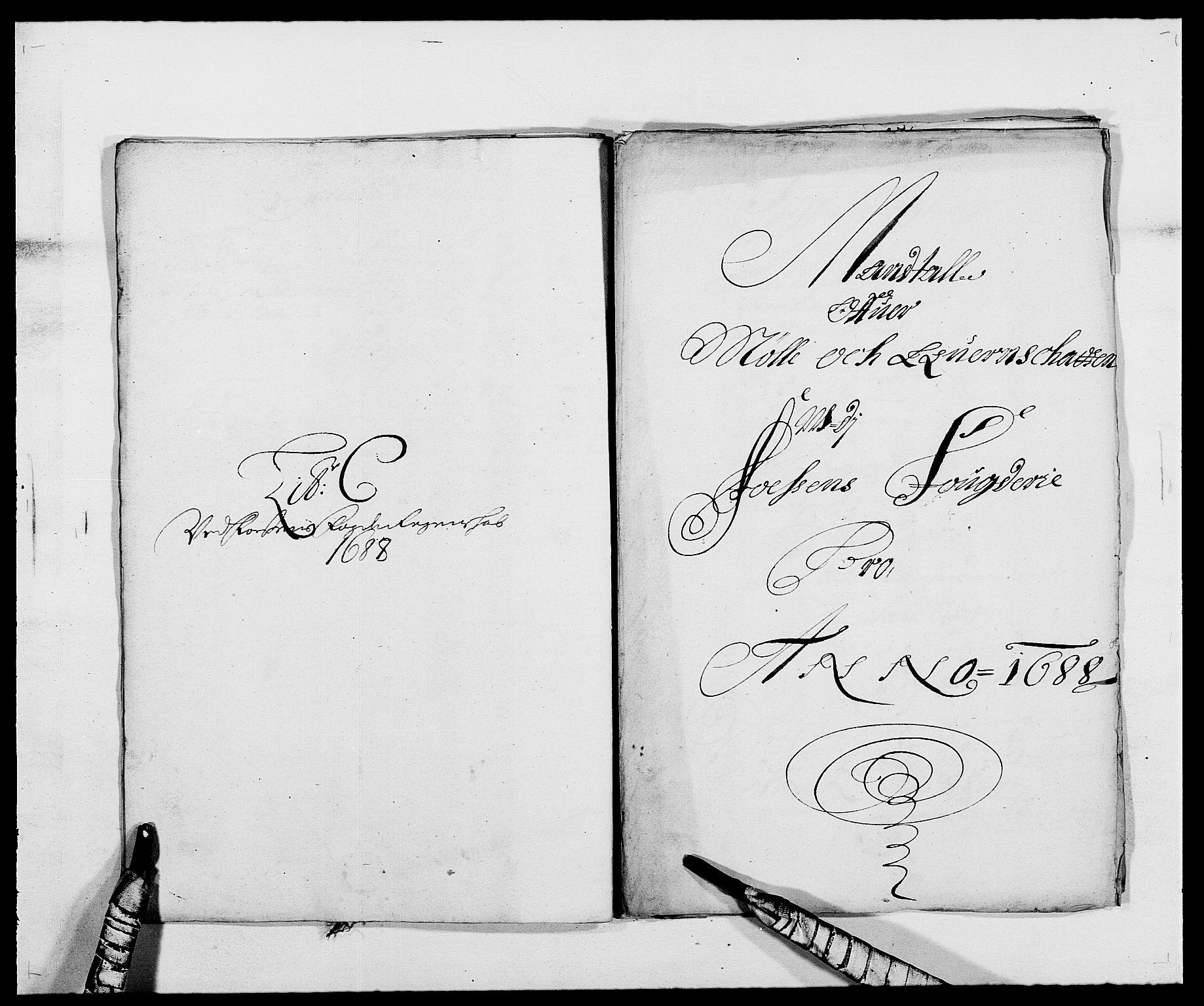 RA, Rentekammeret inntil 1814, Reviderte regnskaper, Fogderegnskap, R57/L3846: Fogderegnskap Fosen, 1688, s. 79