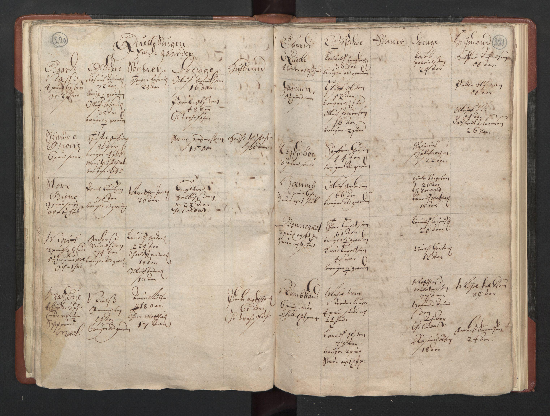RA, Fogdenes og sorenskrivernes manntall 1664-1666, nr. 5: Fogderier (len og skipreider) i nåværende Buskerud fylke og Vestfold fylke, 1664, s. 220-221