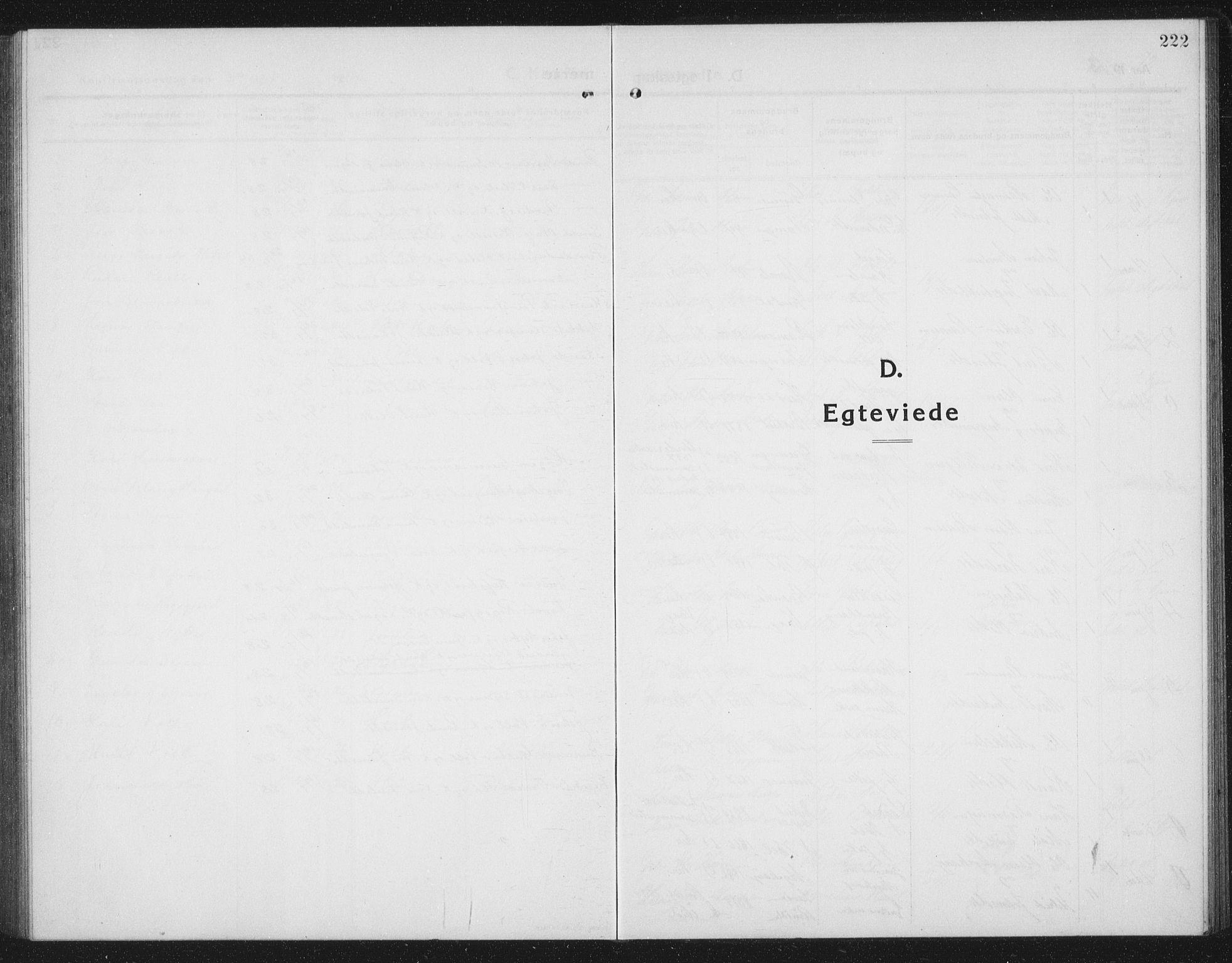 SAT, Ministerialprotokoller, klokkerbøker og fødselsregistre - Sør-Trøndelag, 674/L0877: Klokkerbok nr. 674C04, 1913-1940, s. 222