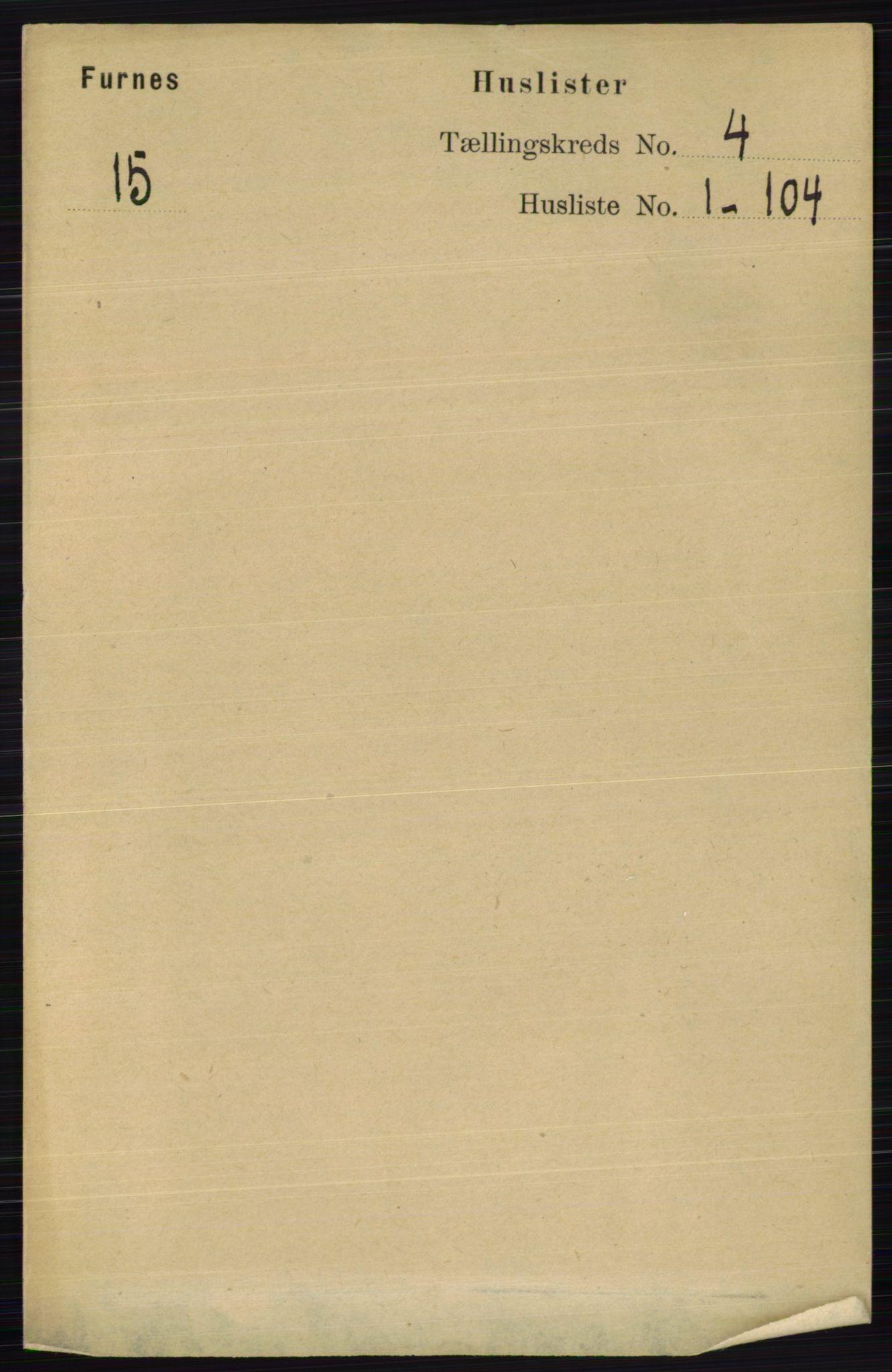 RA, Folketelling 1891 for 0413 Furnes herred, 1891, s. 2353