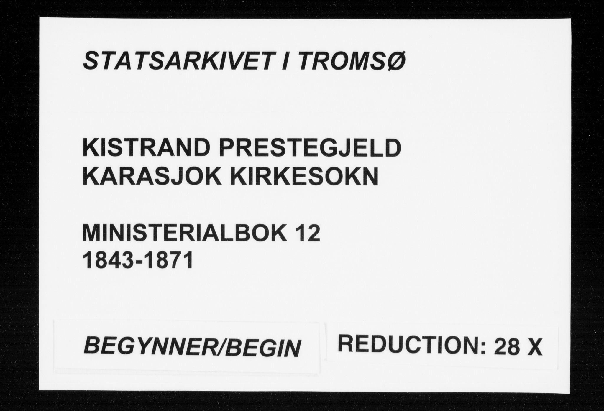 SATØ, Kistrand/Porsanger sokneprestembete, H/Ha/L0012.kirke: Ministerialbok nr. 12, 1843-1871