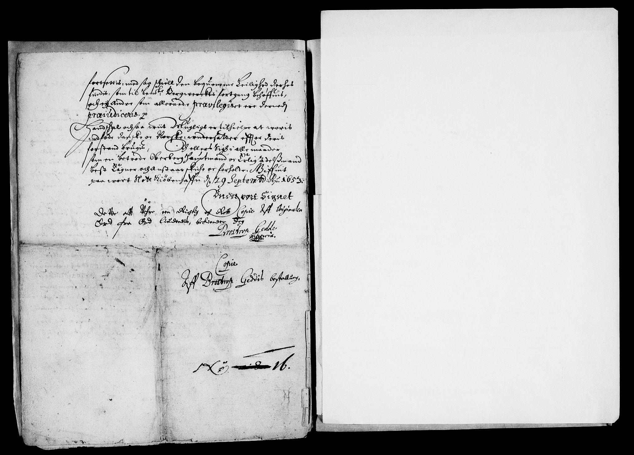RA, Danske Kanselli, Skapsaker, G/L0019: Tillegg til skapsakene, 1616-1753, s. 195