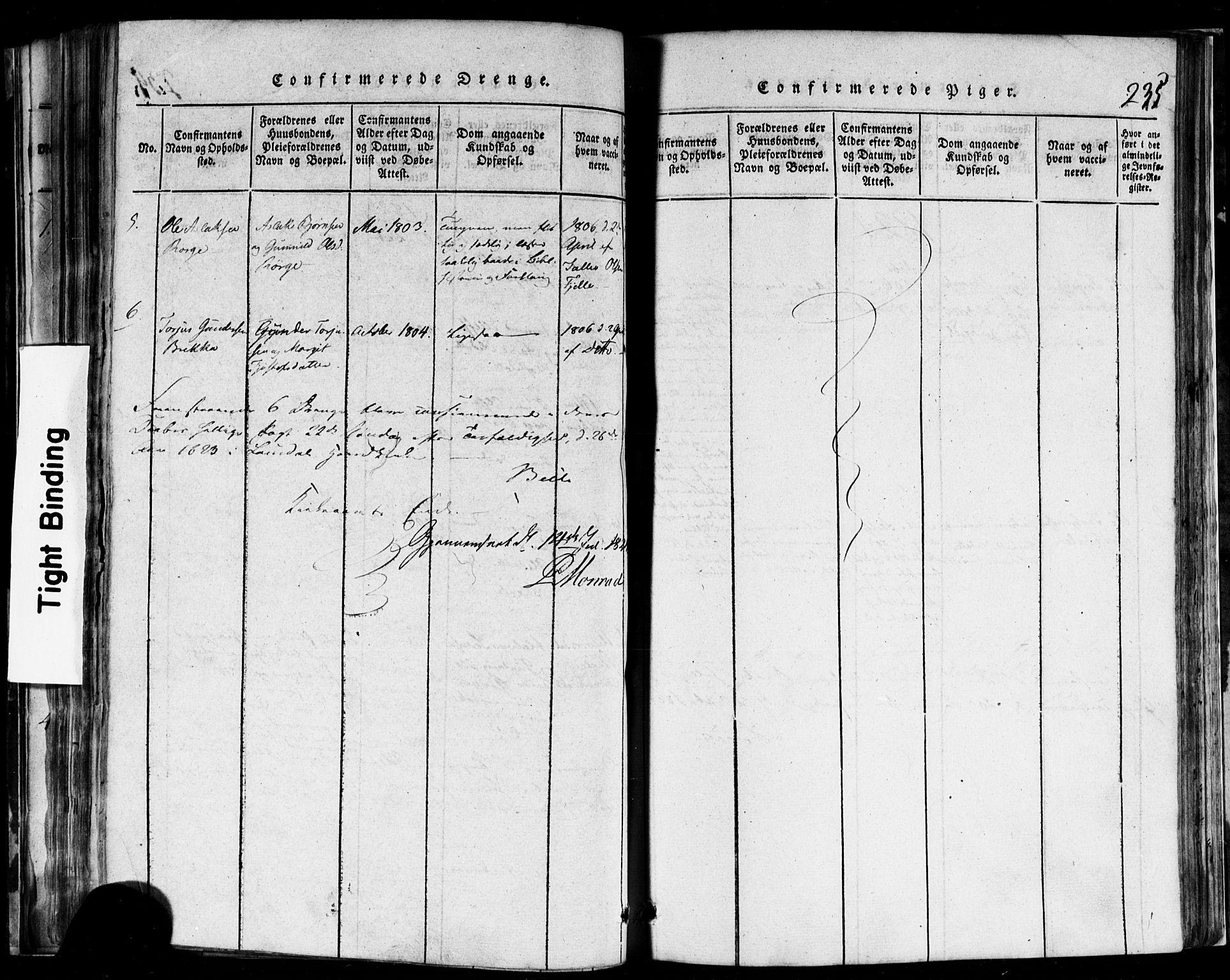 SAKO, Rauland kirkebøker, F/Fa/L0002: Ministerialbok nr. 2, 1815-1860, s. 235
