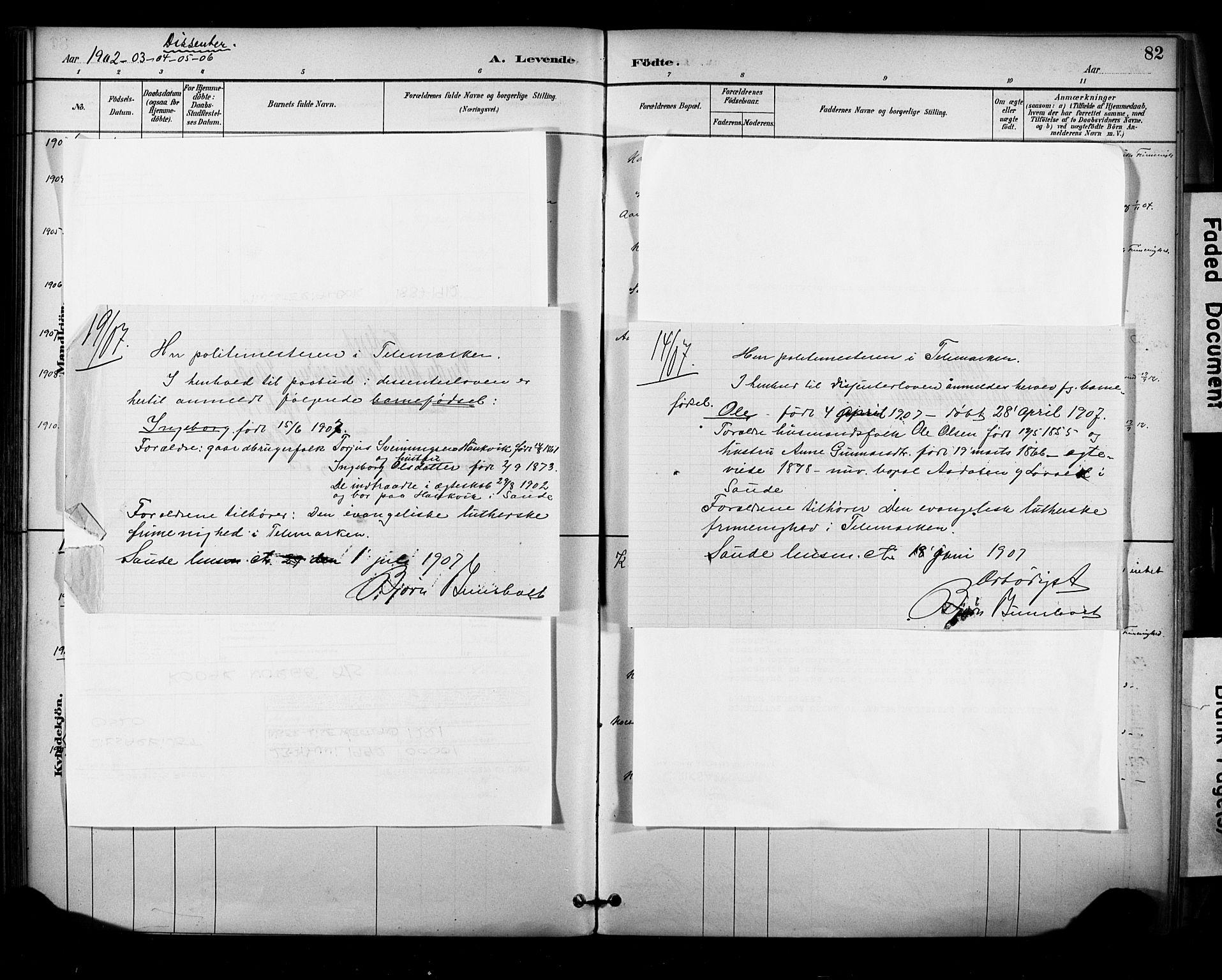 SAKO, Sauherad kirkebøker, F/Fa/L0009: Ministerialbok nr. I 9, 1887-1912, s. 82