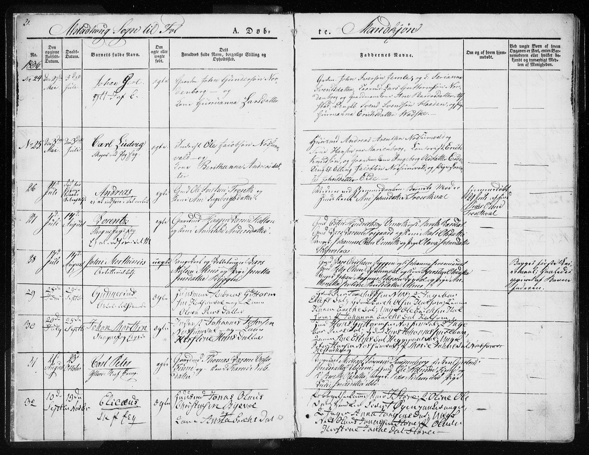 SAT, Ministerialprotokoller, klokkerbøker og fødselsregistre - Nord-Trøndelag, 717/L0154: Ministerialbok nr. 717A06 /1, 1836-1849, s. 3