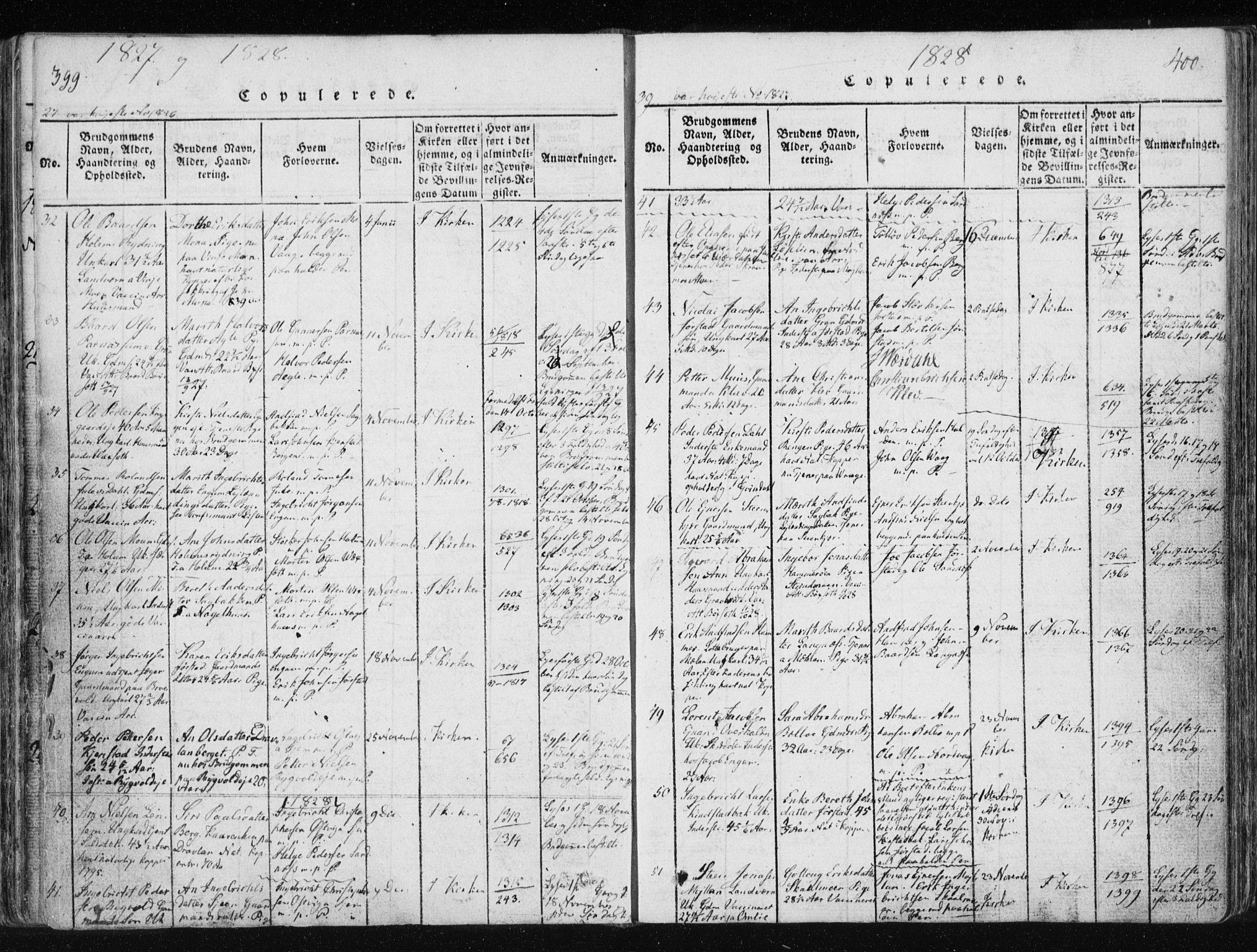 SAT, Ministerialprotokoller, klokkerbøker og fødselsregistre - Nord-Trøndelag, 749/L0469: Ministerialbok nr. 749A03, 1817-1857, s. 399-400