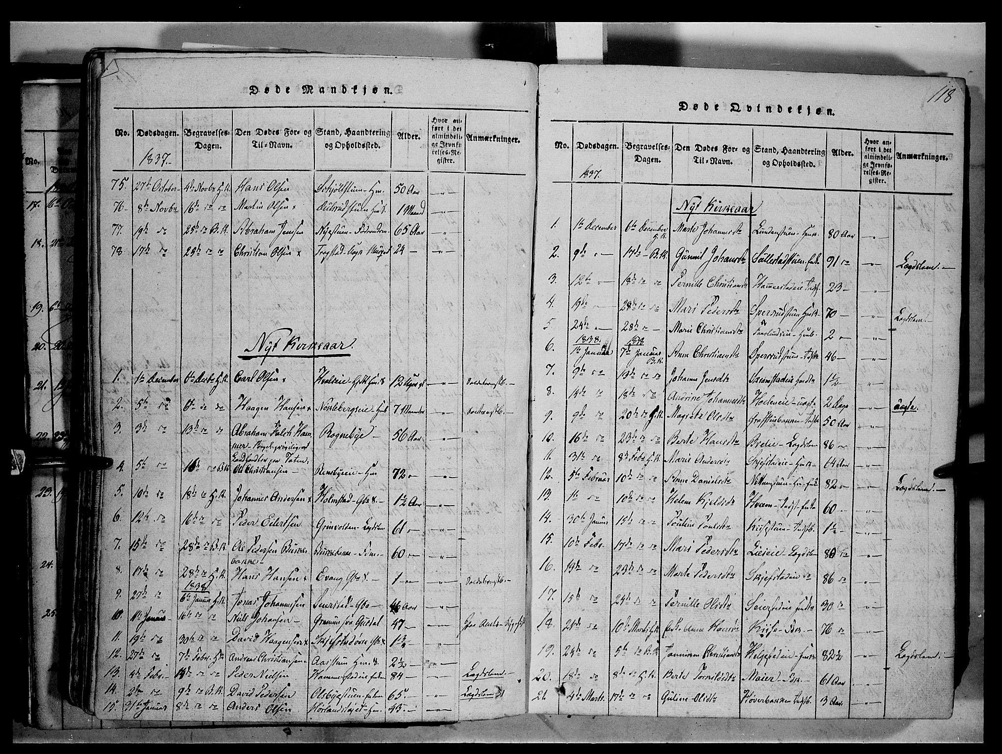 SAH, Østre Toten prestekontor, Ministerialbok nr. 1, 1828-1839, s. 118