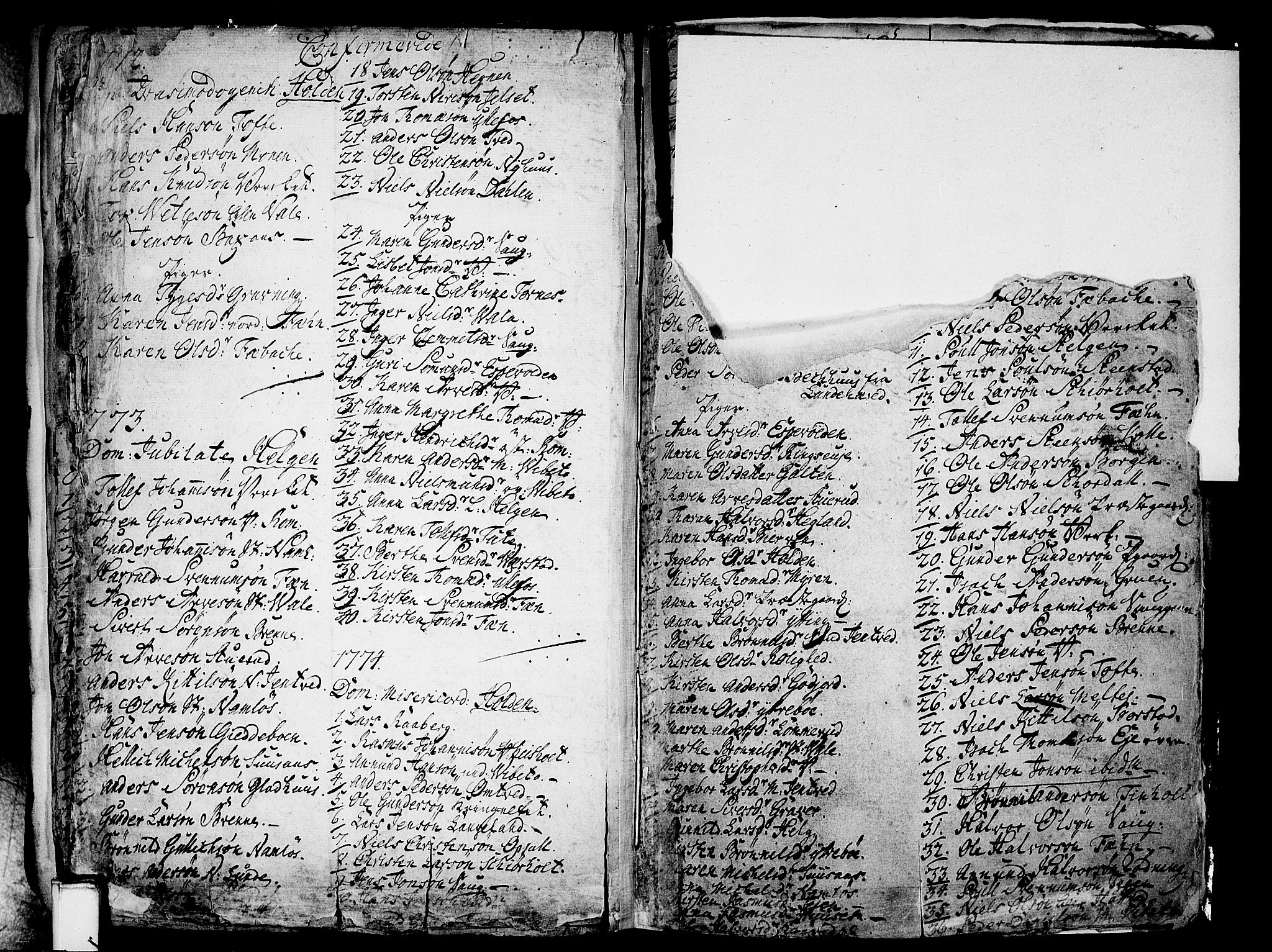 SAKO, Holla kirkebøker, F/Fa/L0001: Ministerialbok nr. 1, 1717-1779, s. 274